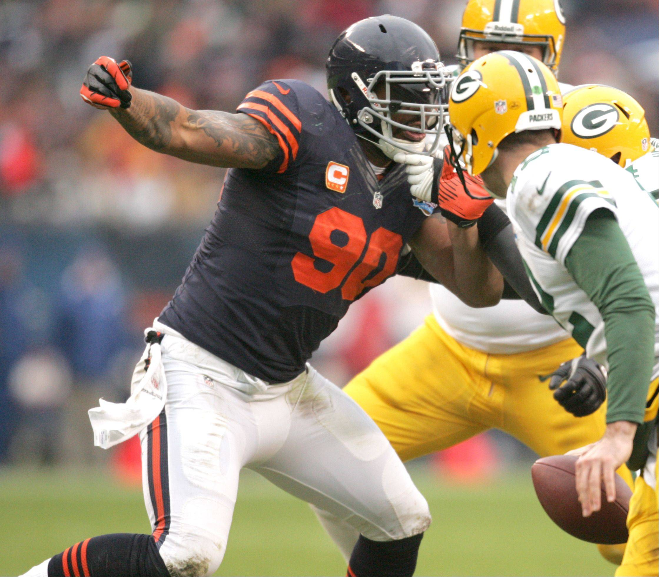 Bears defensive end Julius Peppers was named to his eighth Pro Bowl on Wednesday.
