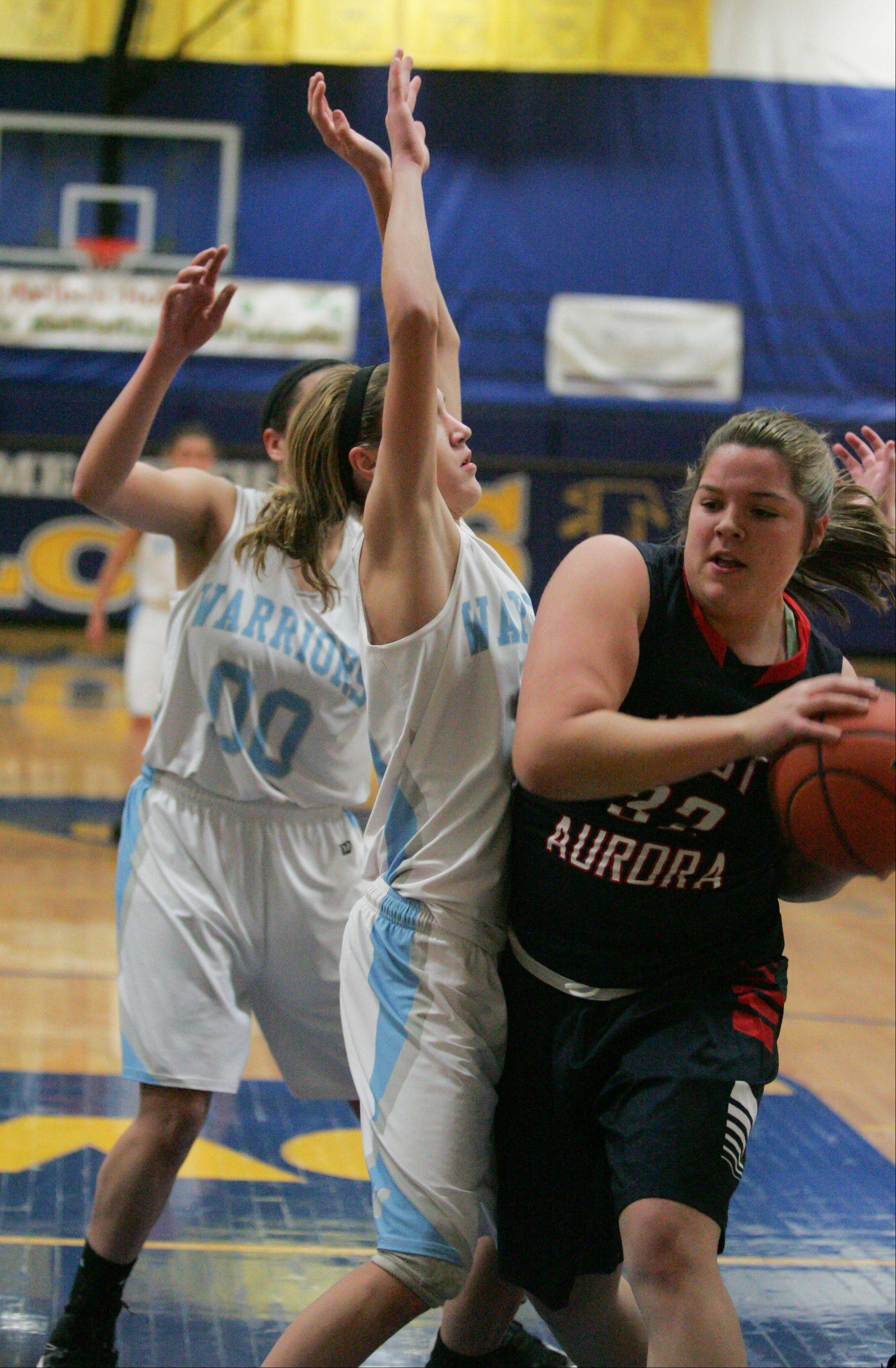 Images from the West Aurora vs. Willowbrook girls basketball game during the Bill Neibch Holiday Tournament at Wheaton North High School on Wednesday, December 26, 2012.