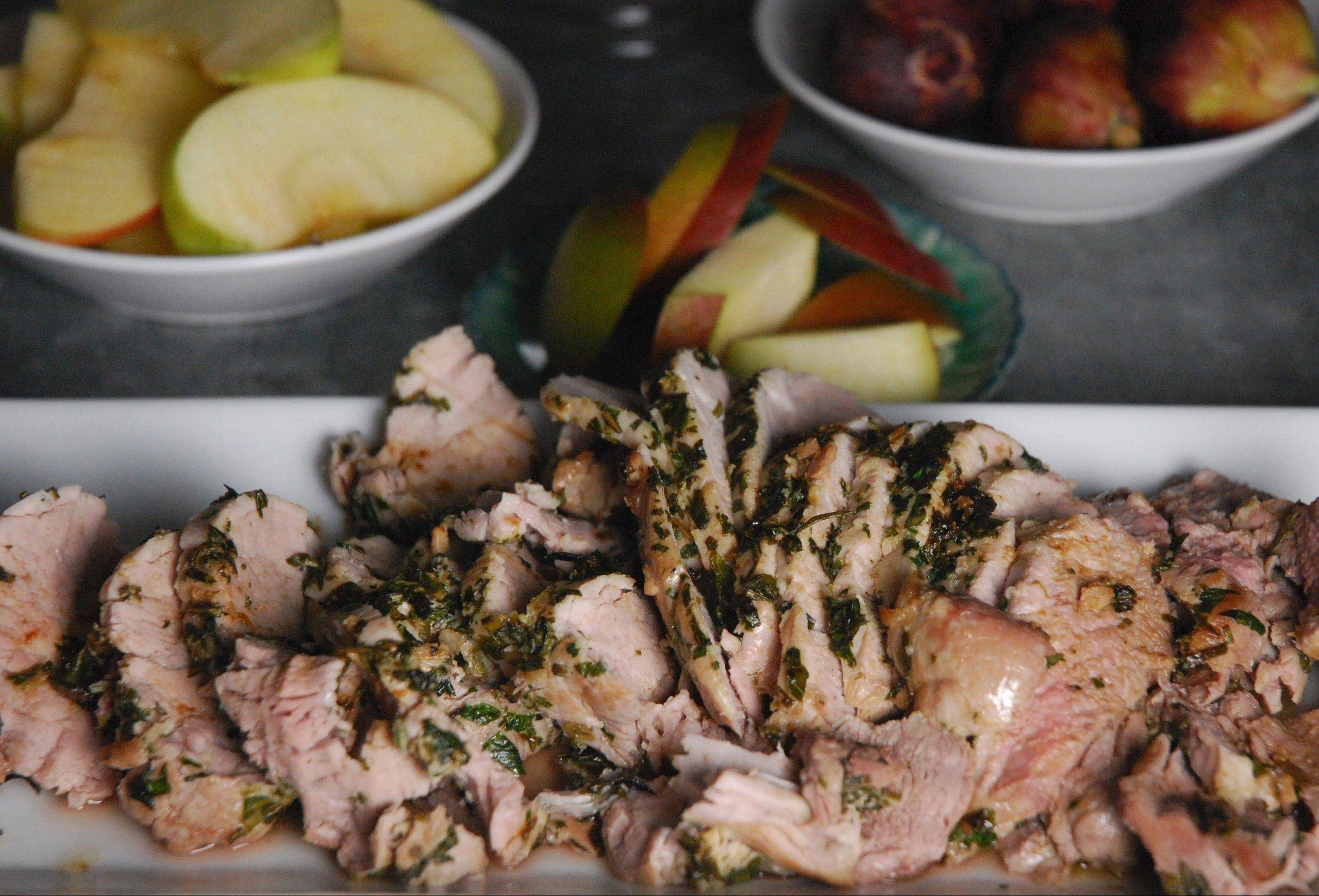 Roasted pork tenderloin is elegant enough for a holiday meal and easy enough as to not stress out the host.
