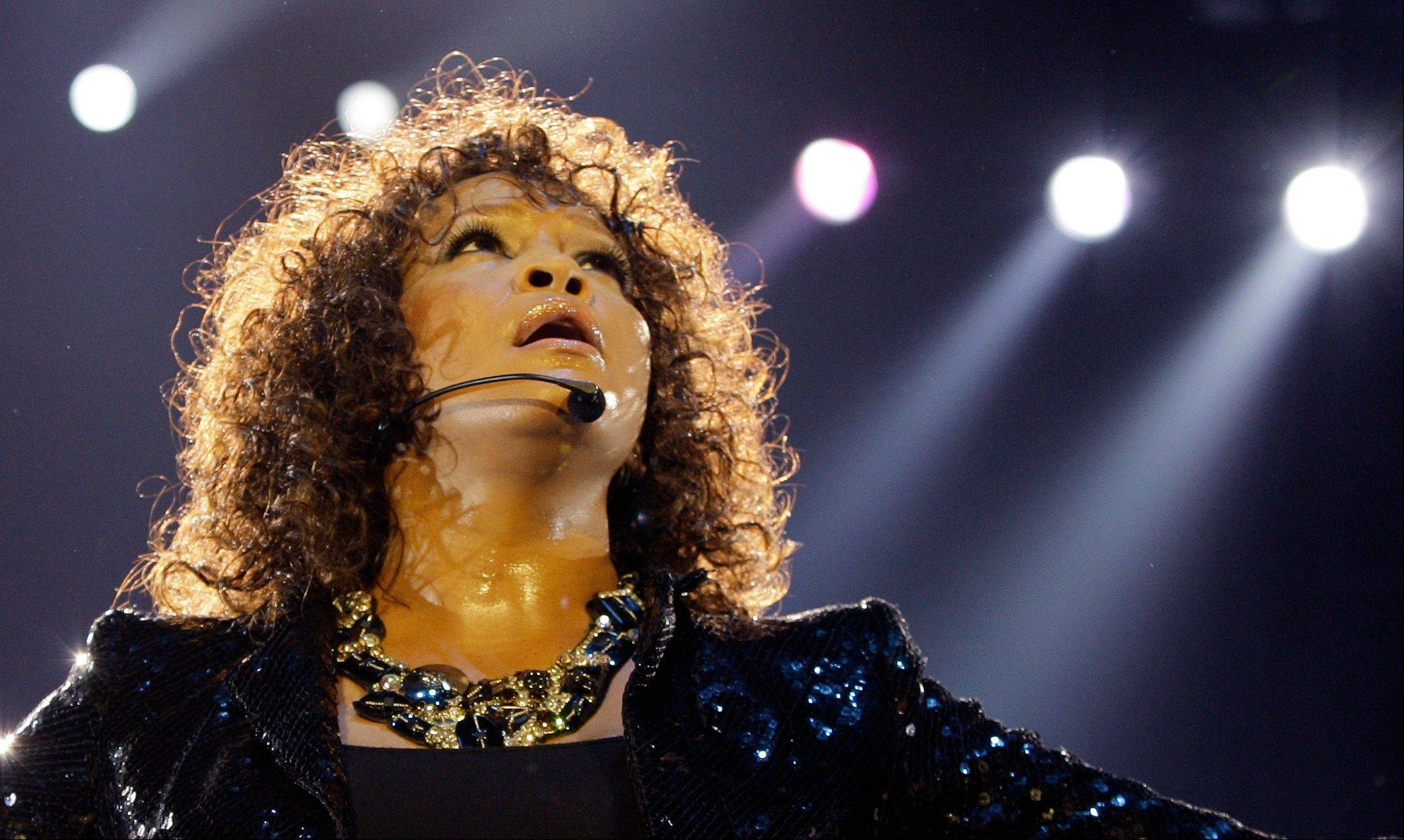 Singer Whitney Houston performs in London as part of her European tour. Houston, 48, died Feb. 11.