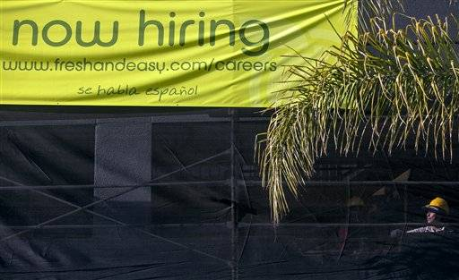 The average number of people seeking U.S. unemployment benefits over the past month fell to the lowest level since March 2008, a sign that the job market is healing.