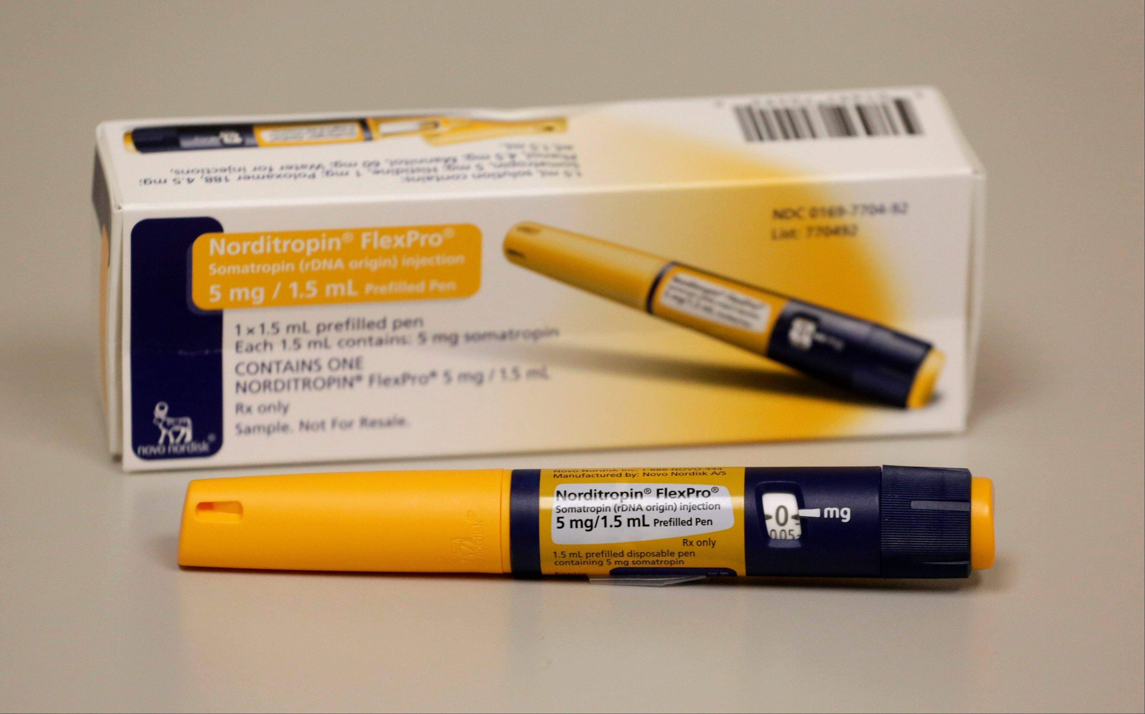 An injector pen shown here contains approximately a week's worth of HGH doses for a patient in need of the drug at the clinic of Dr. Mark Molitch of Northwestern University, who helped write medical standards meant to limit HGH treatment to patients in need of the drug. An Associated Press investigation shows that a federal crackdown on illicit foreign supplies of human growth hormone has failed to stop rampant misuse.