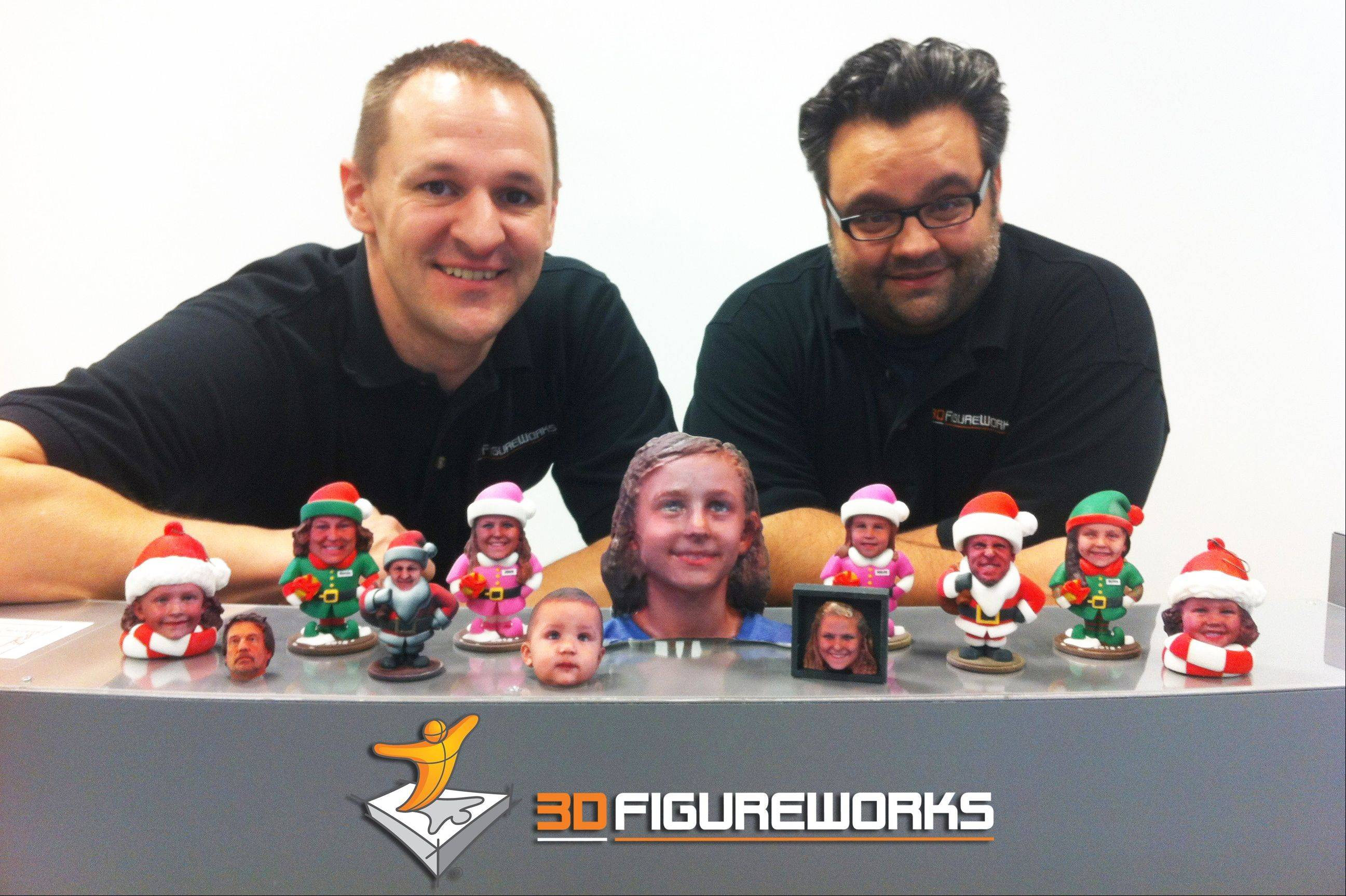 George Walrath, left, and Dominic Vallone are co-founders of 3D FigureWorks in St. Charles.