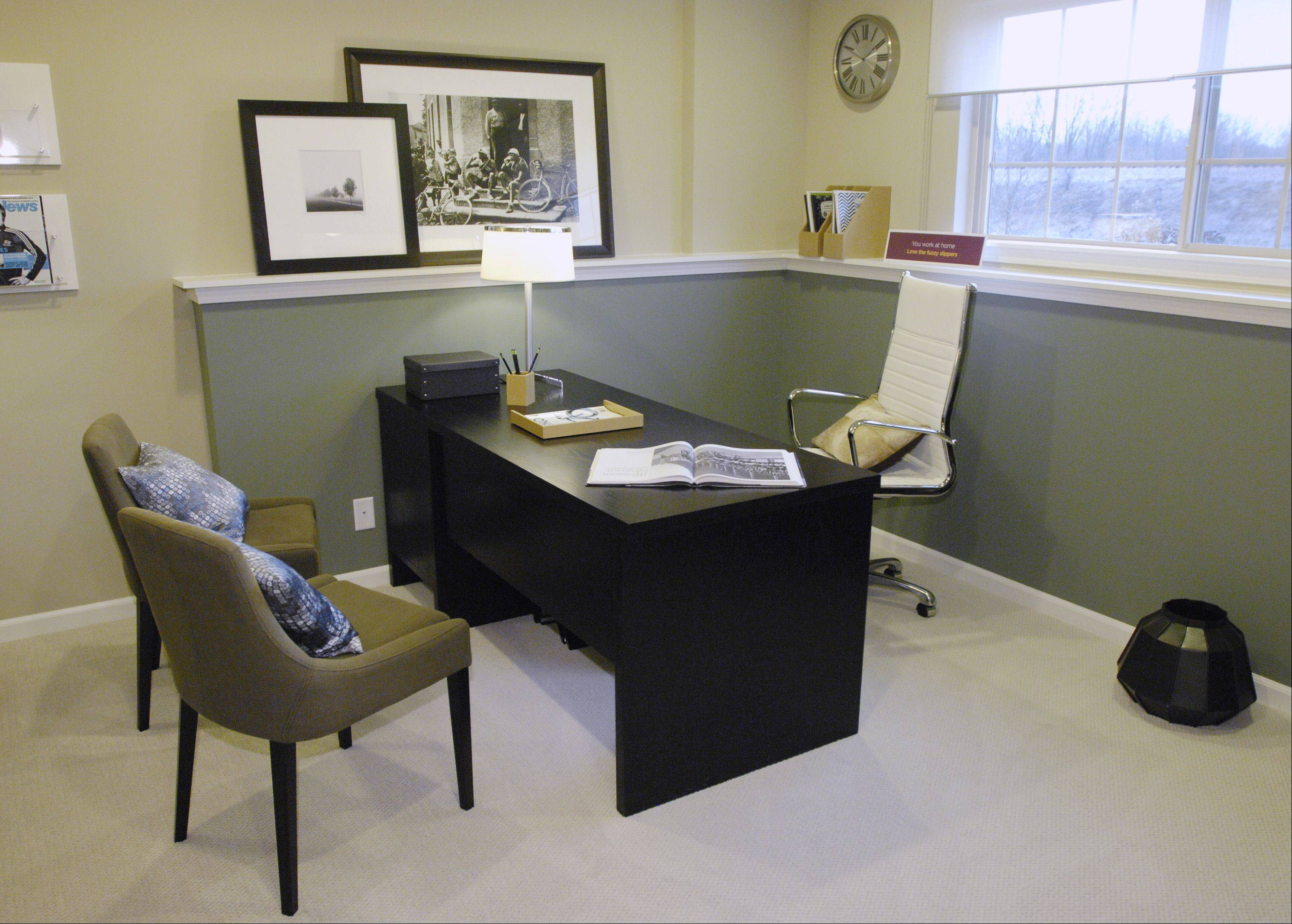 Many uses, such as a home office, can be configured in the optional den in the lower level.