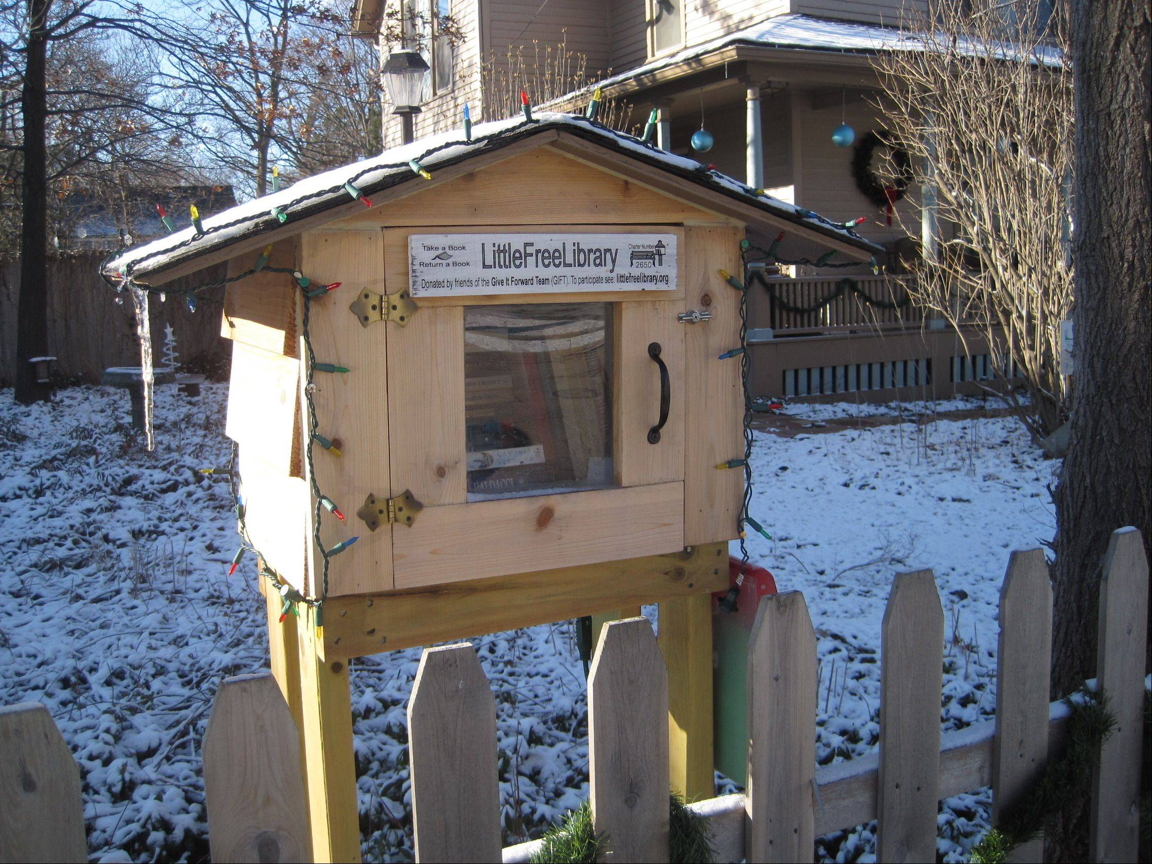 Anne Faulkner and her husband Roy Czach installed a Little Free Library in their front yard at 1010 Center St. in Elgin.
