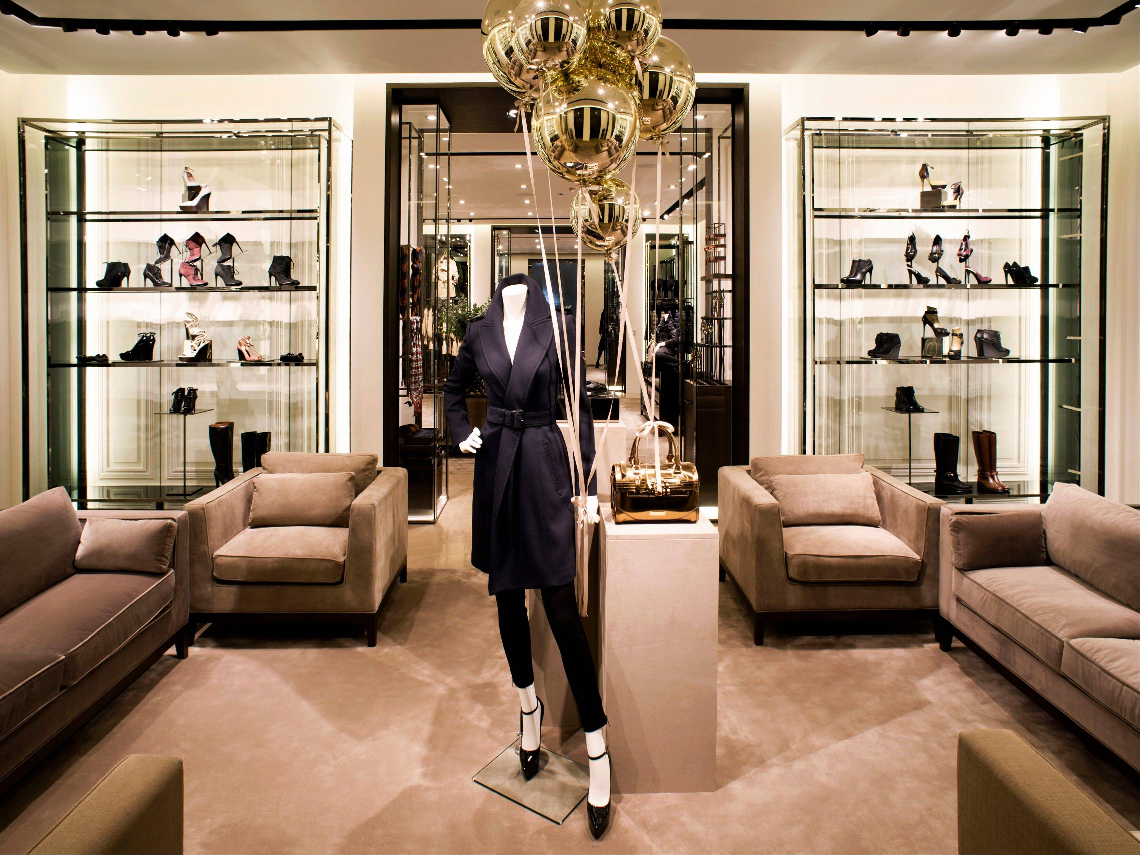 An interior view of the new Burberry flagship store.
