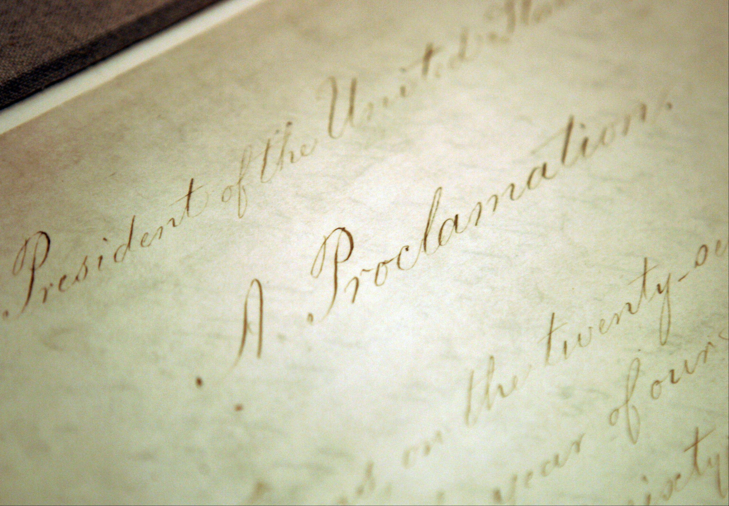FAssociated Press/2005The original Emancipation Proclamation on display in the Rotunda of the National Archives in Washington. A