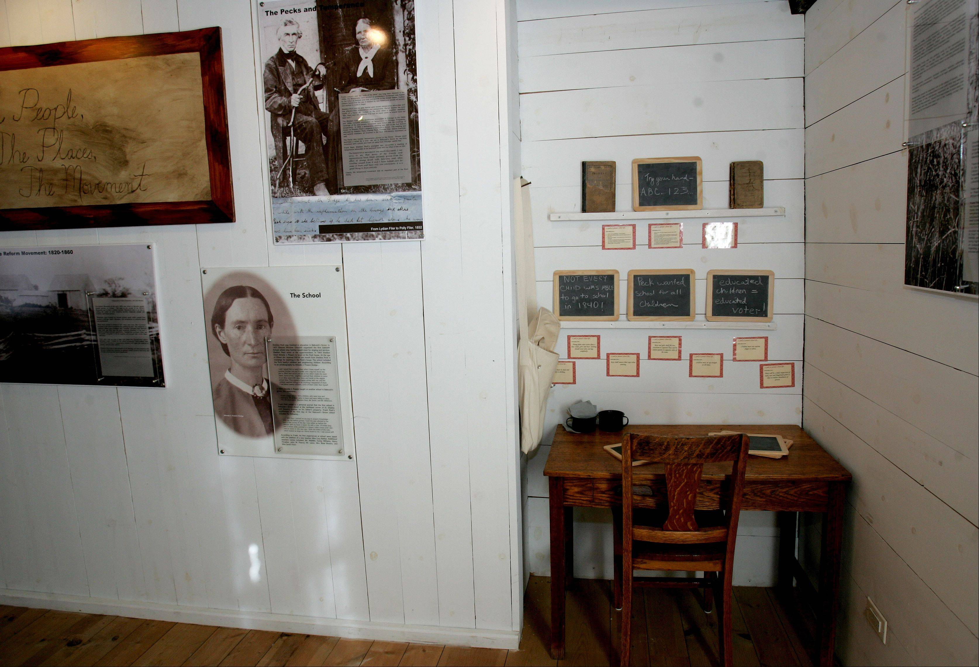 A display on the Underground Railroad takes up one room of the Sheldon Peck Homestead, where the Lombard Historical Society will host a program to mark the 150th anniversary of the Emancipation Proclamation from 1 to 3 p.m. Tuesday.