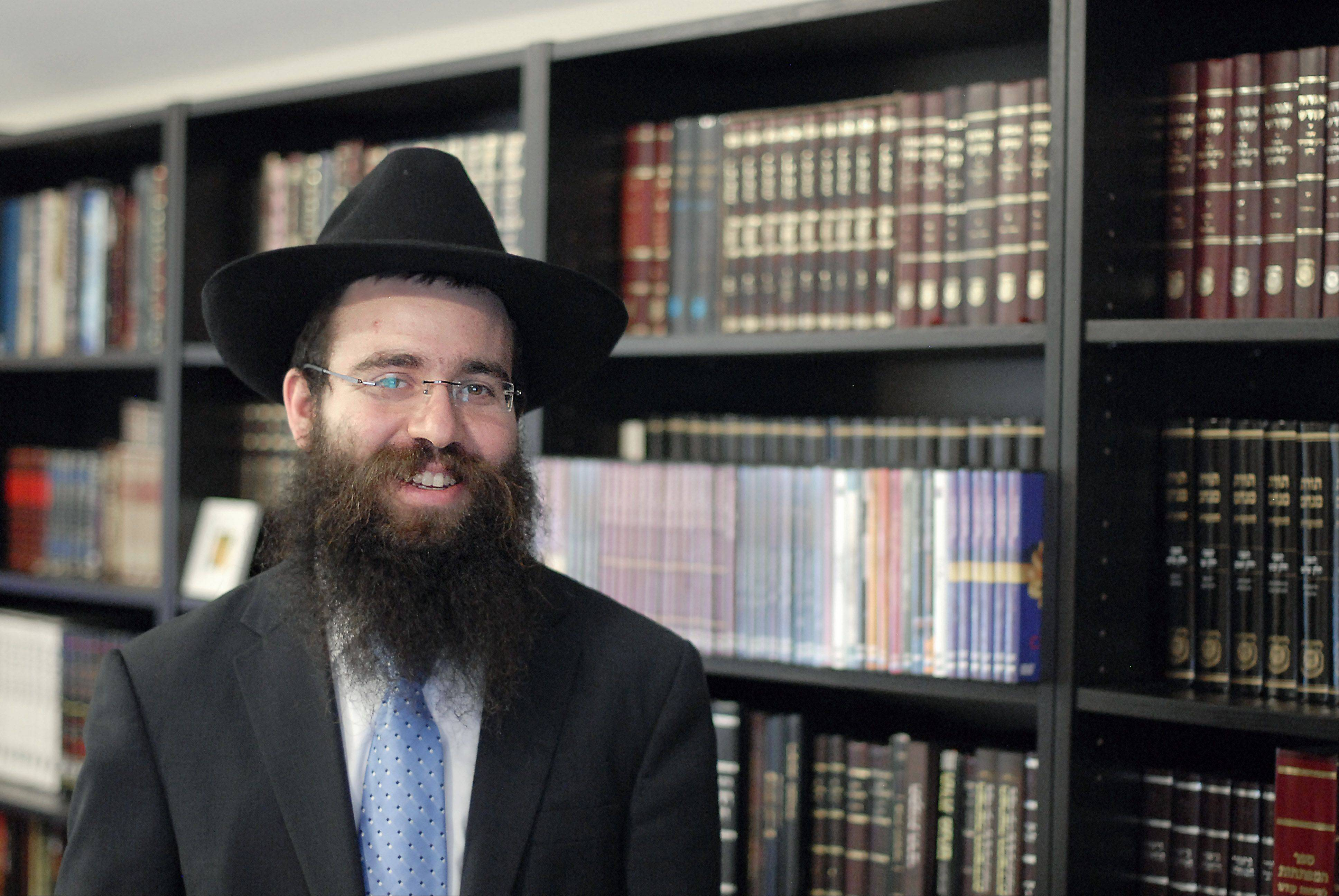 Rabbi Mendel Shemtov has been running the Chabad of Elgin & Hoffman Estates since the summer.