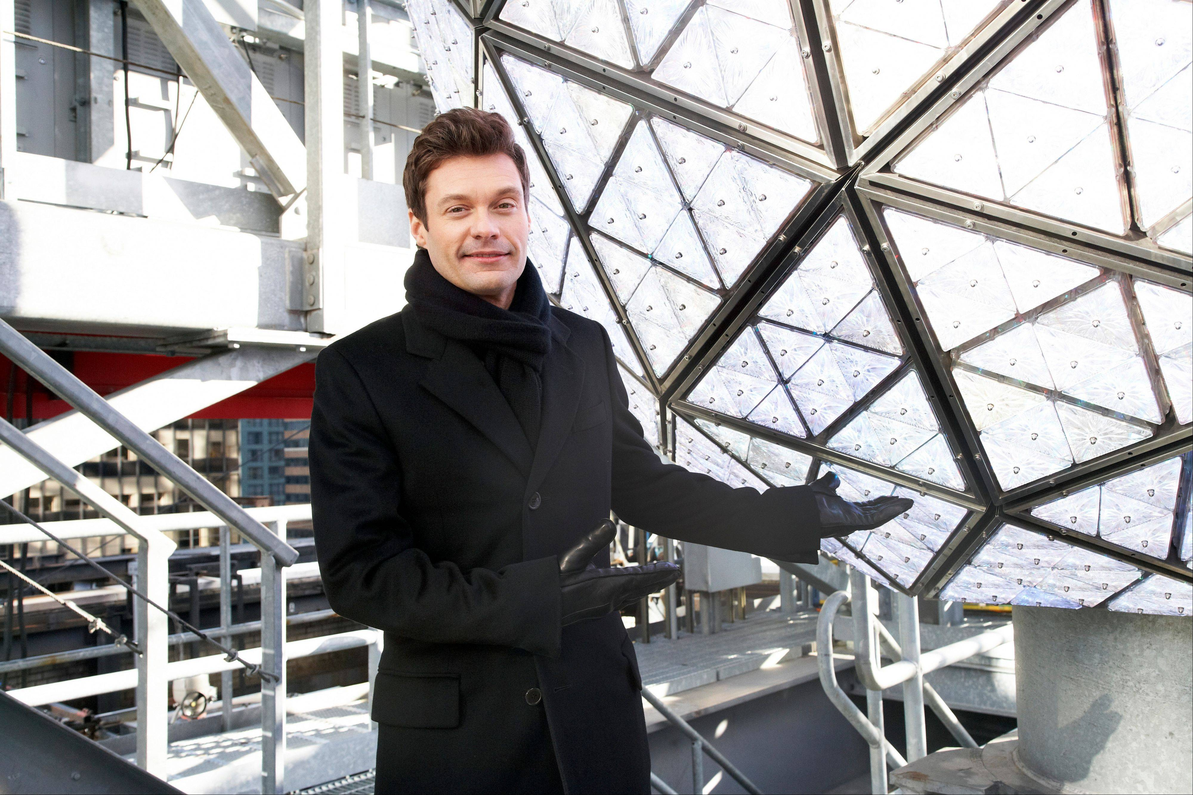 Ryan Seacrest presents the great crystal ball that will drop during �Dick Clark�s New Year�s Rockin� Eve with Ryan Seacrest� on ABC.