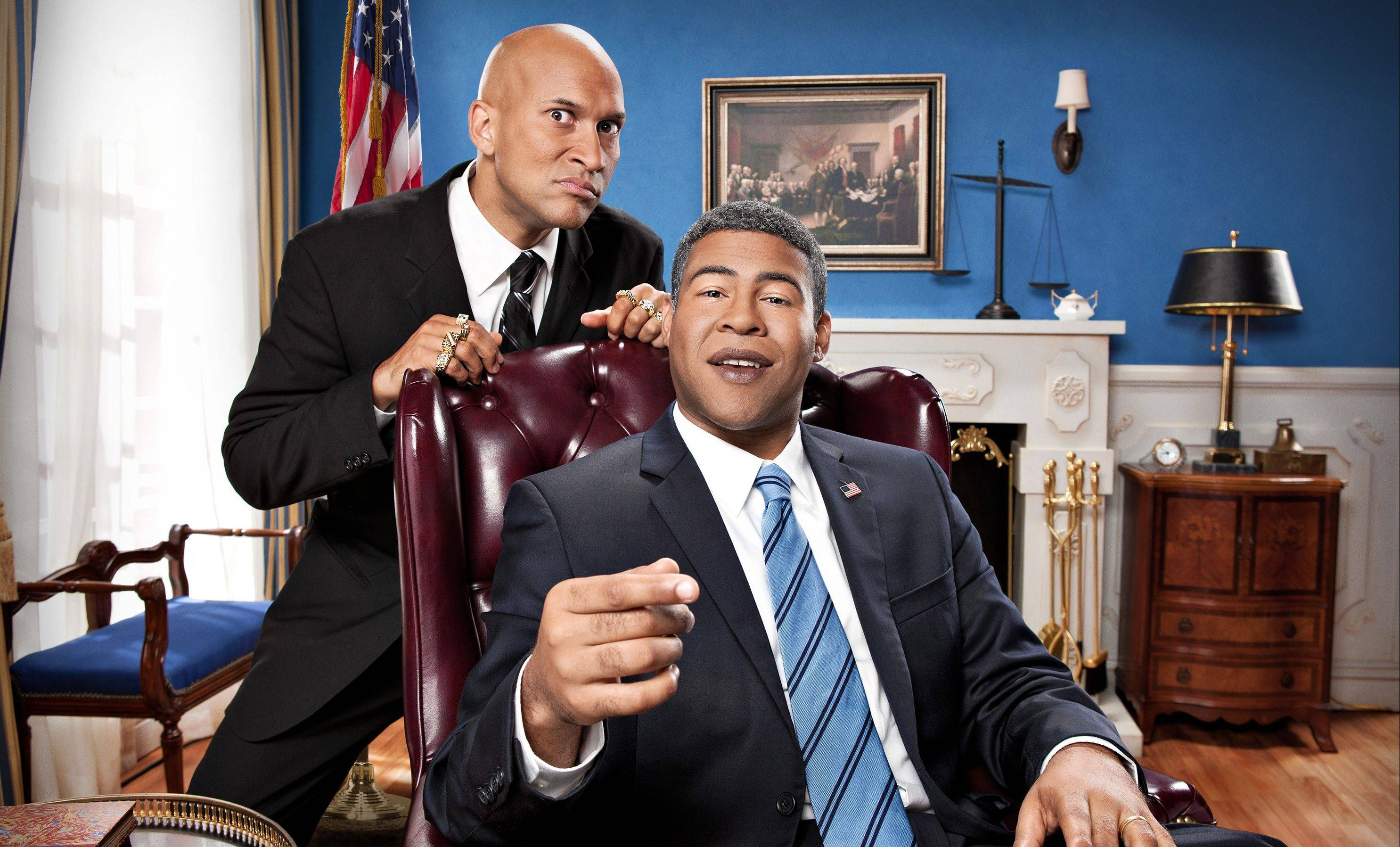 "Race and culture fueled the comedy of Keegan-Michael Key, left, and Jordan Peele this year. Their sketch comedy series ""Key & Peele"" airs on Comedy Central."