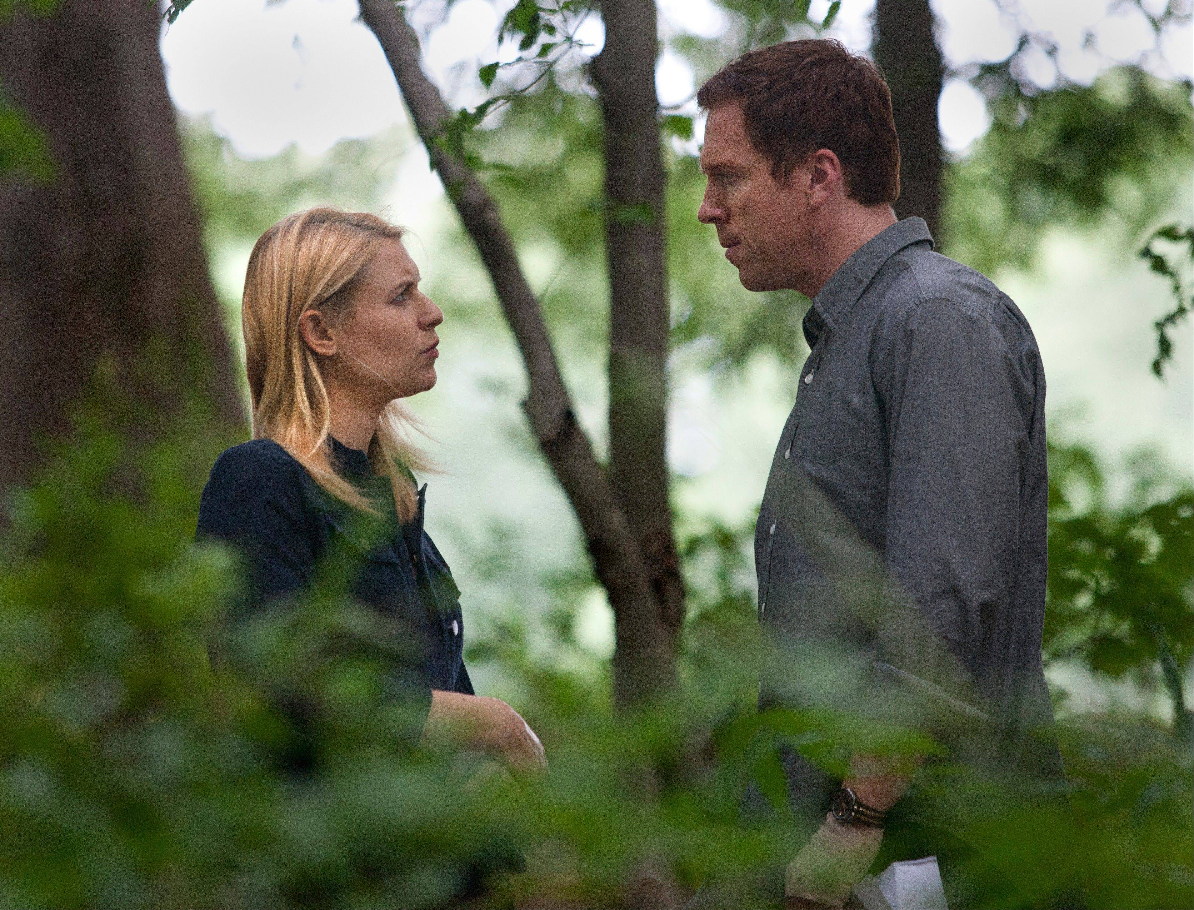 "The plot continued to thicken in the second-season of the Emmy-winning ""Homeland,"" starring Claire Danes as an obsessed CIA agent and Damian Lewis as the man she both loves and tries to bring down."