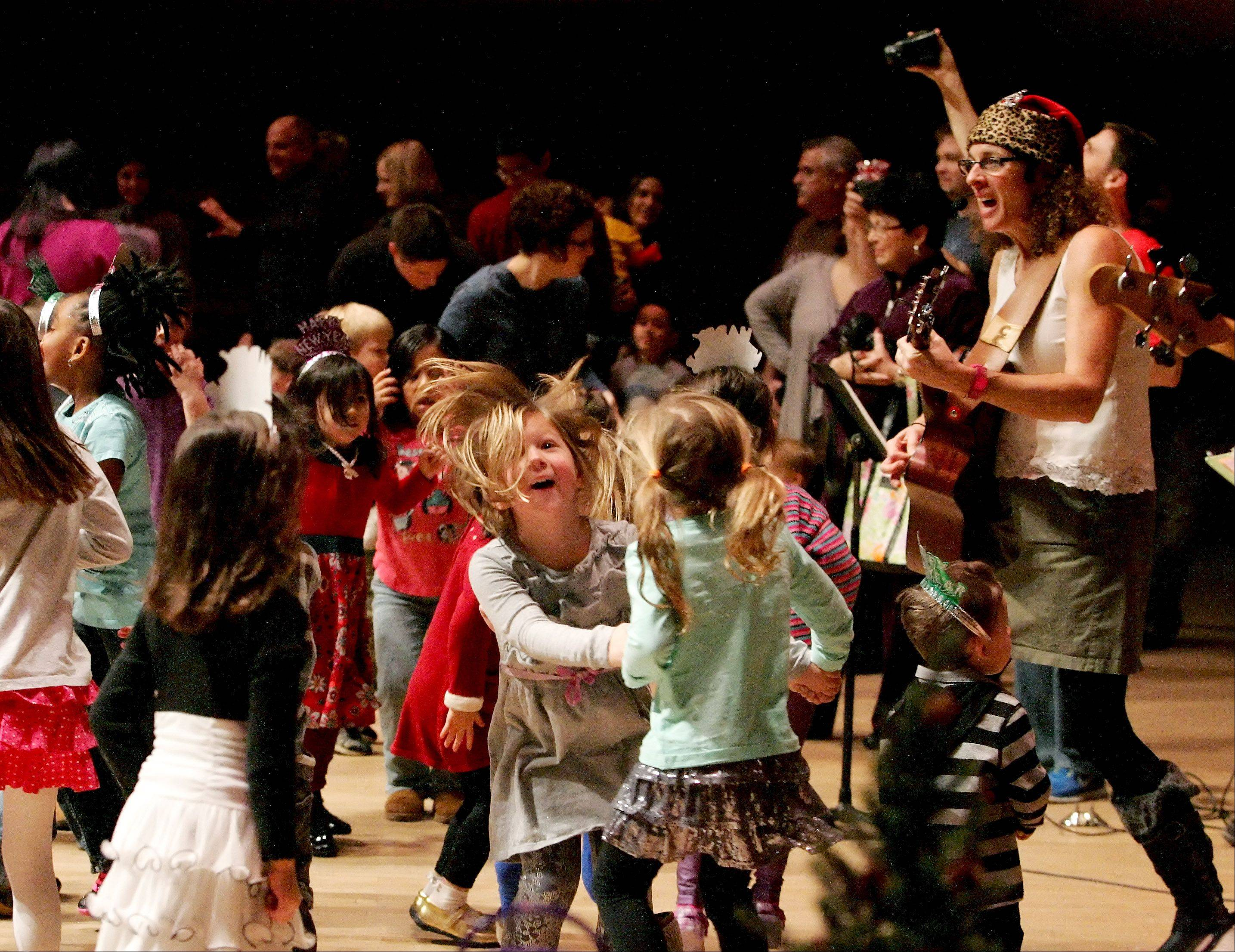 Jeanie B. and the Jelly Beans had children dancing onstage during the DuPage Children's Museum's annual Bubble Bash Monday at Wentz Concert Hall in Naperville.
