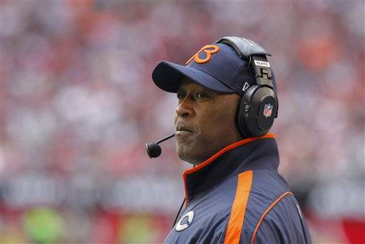 Lovie Smith was one of seven NFL coaches fired Monday.