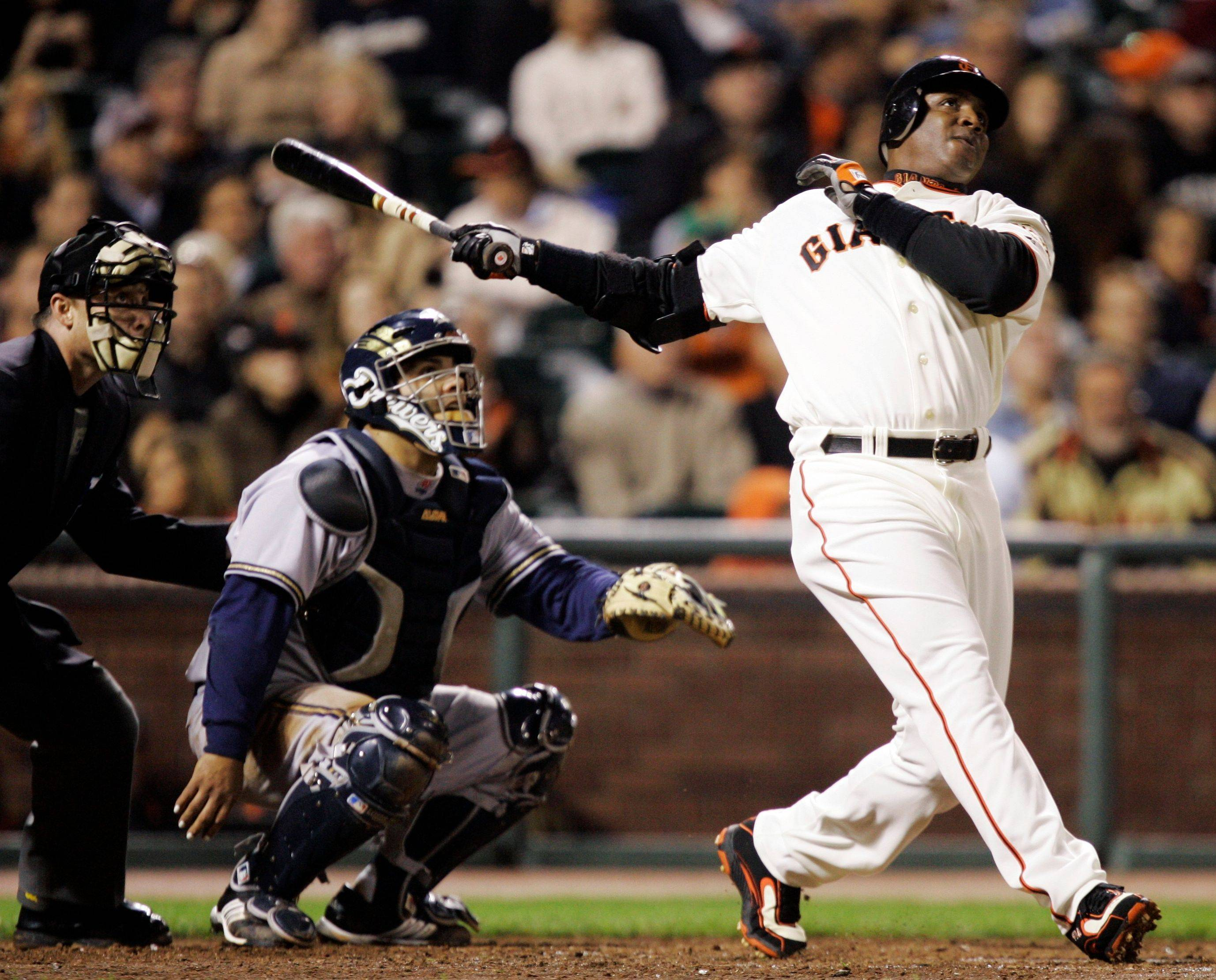 San Francisco Giants' Barry Bonds, above, Rogers Clemens, and Sammy Sosa are on the Hall of Fame ballot for the first time, and fans will find out on Jan. 9 whether drug allegations block the former stars from reaching baseball's shrine.