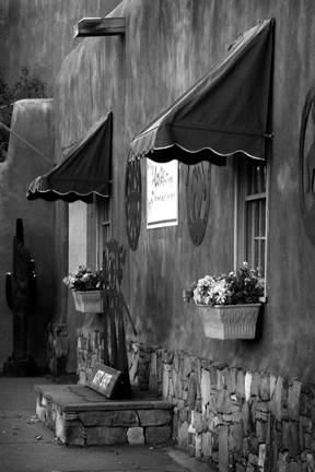 "Small monochrome print Award Winner ""Gift Shop"" by Carol Arnolde"