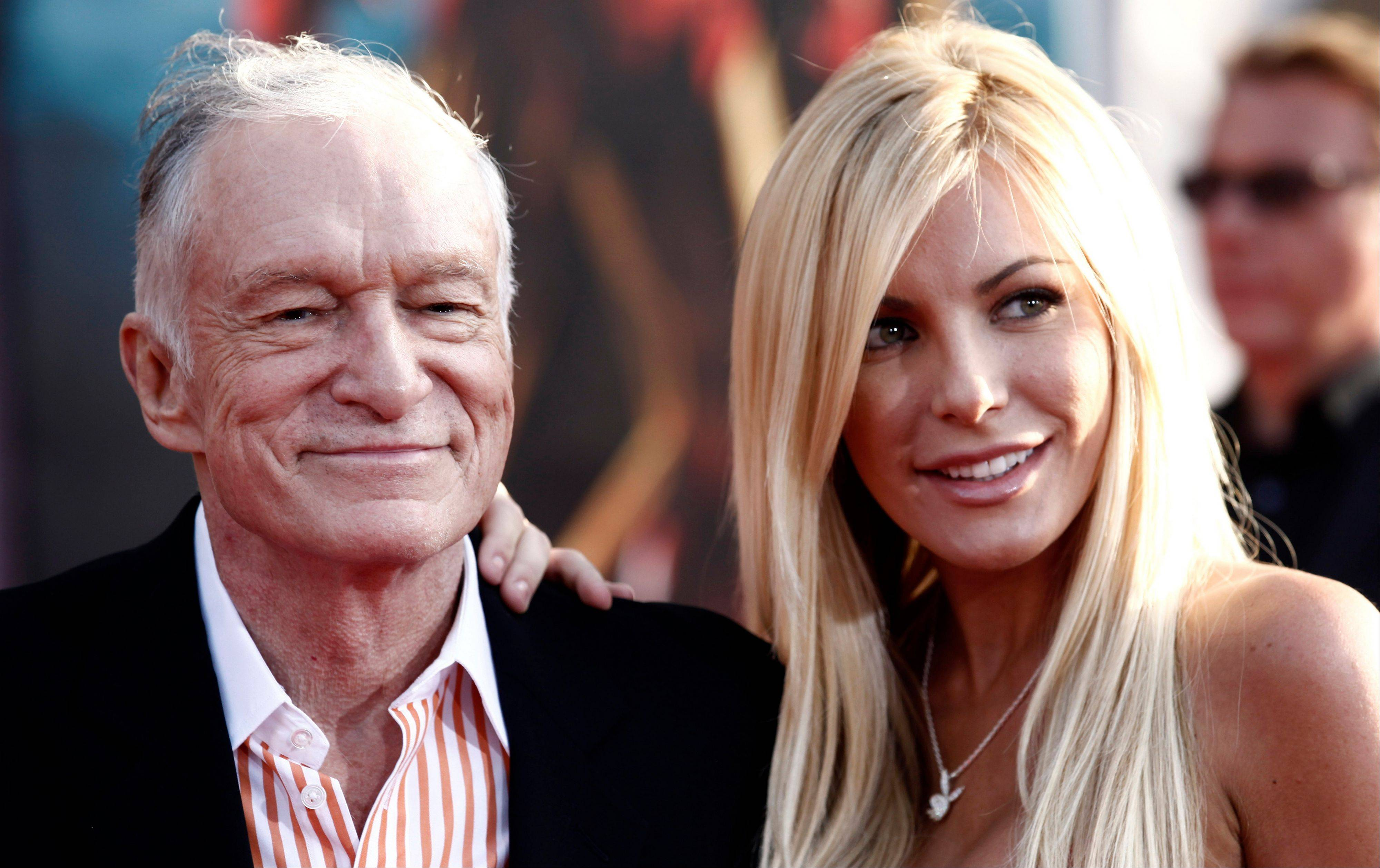 Hugh Hefner and Crystal Harris exchanged vows at a private Playboy Mansion ceremony on New Year�s Eve.