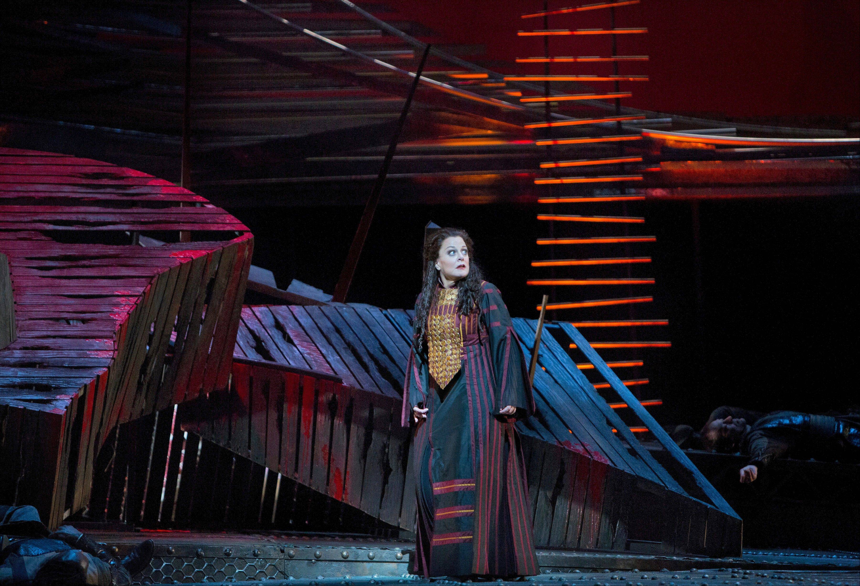 "Wheeling native Deborah Voigt stars as Cassandra in Berlioz's ""Les Troyens,"" which is screened live in HD from the Metropolitan Opera in New York to movie theaters around the world on Saturday, Jan. 5."