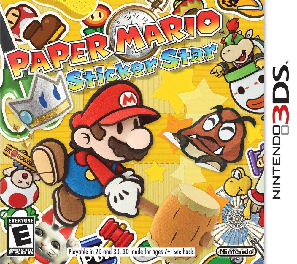 "In ""Paper Mario: Sticker Star,"" Mario must search a foldable, papercraft-like Mushroom Kingdom in search of stickers that were scattered by his archenemy Bowser during the kingdom's comet-watching party."