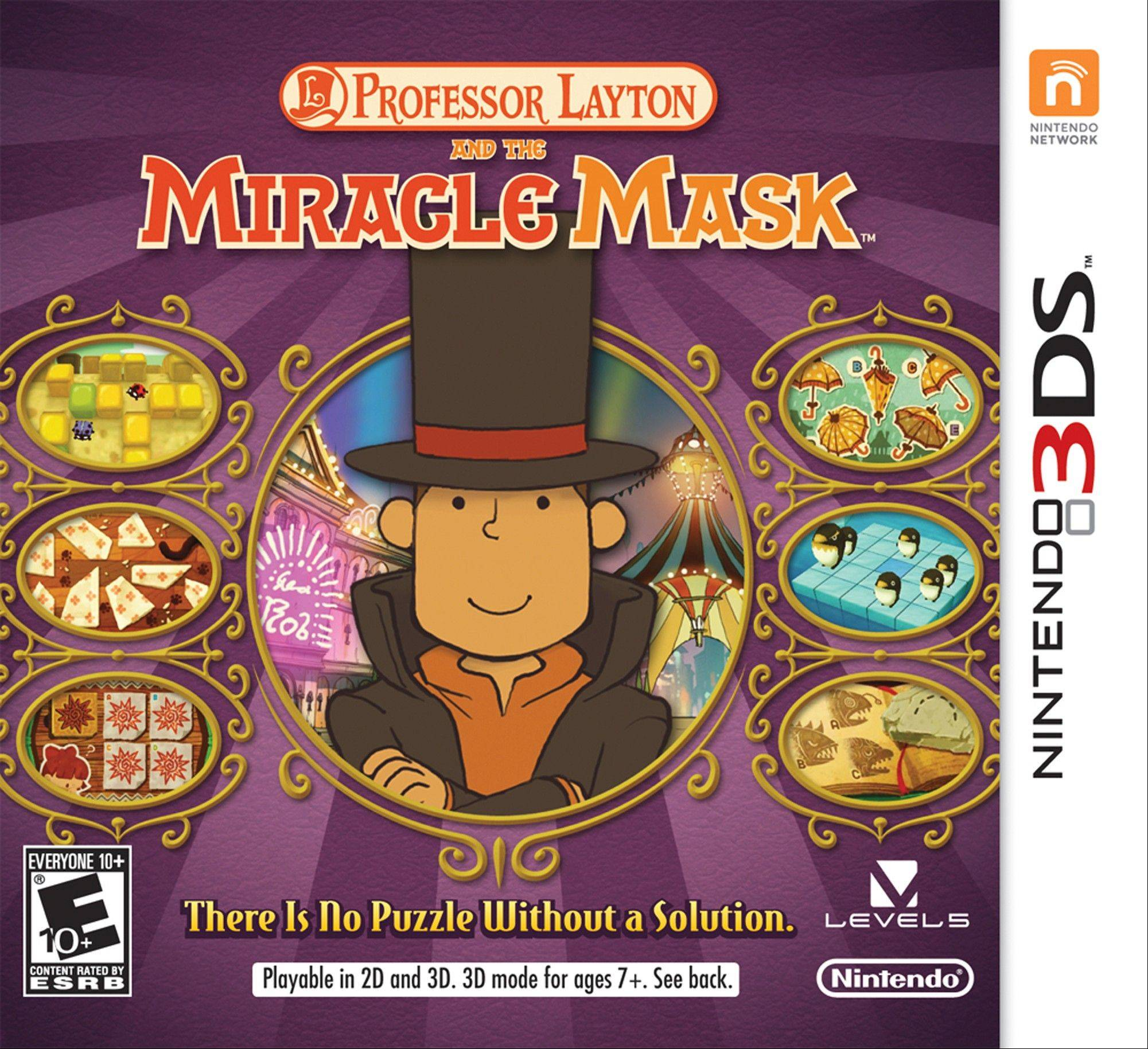 "In ""Professor Layton and the Miracle Mask,"" Professor Layton and his assistants explore the fictional city of Monte d'Or as the player solves puzzles and tracks down a mysterious figure who has turned some residents of the city into stone."