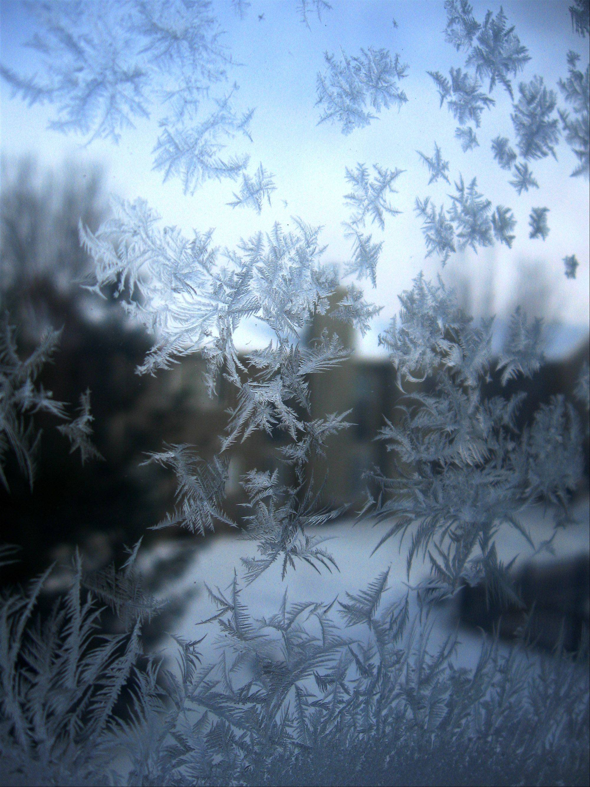Vivek Jena of Naperville captures frost on a window pane.