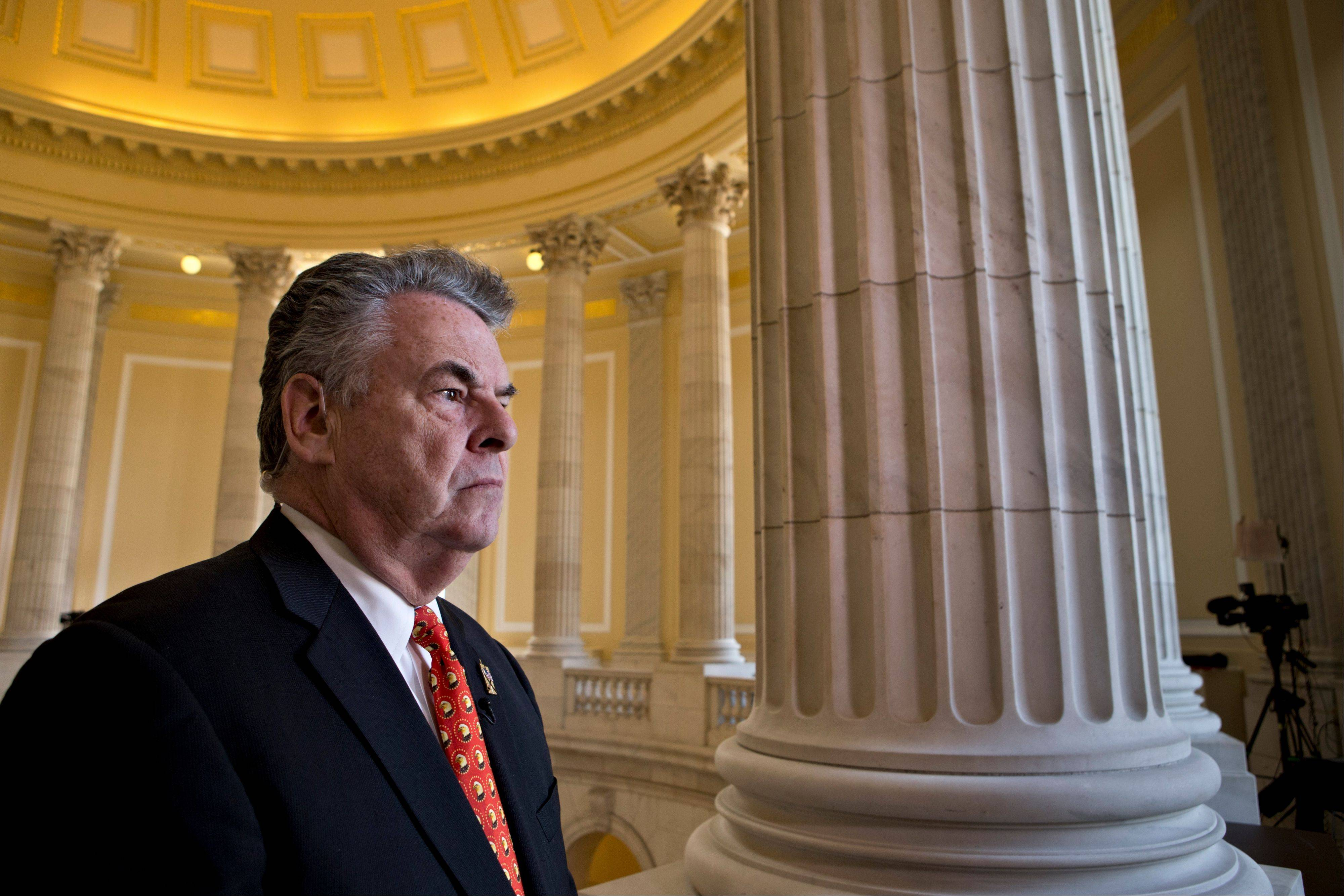 Rep. Peter King, a New York Republican, whose district includes Long Island, expresses his anger and disappointment Wednesday during a cable TV interview on Capitol Hill, after the House GOP leadership decided late New Year's Day to allow the current term of Congress to end without holding a vote on aid for victims of Superstorm Sandy.