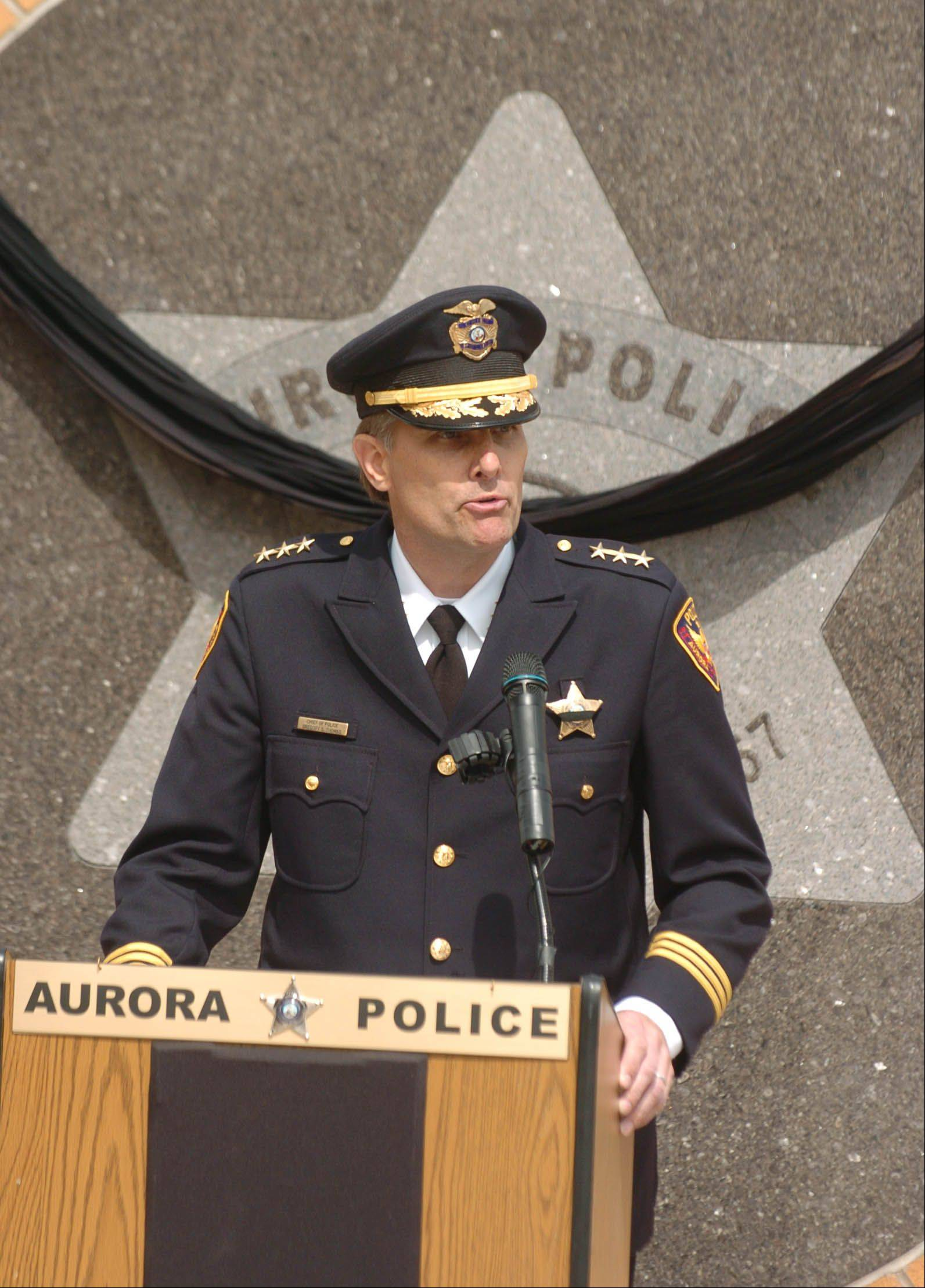 Police Chief Greg Thomas says collaborations with state and federal authorities, police efforts to decrease gang involvement, programs run by community groups and an element of luck allowed Aurora to be murder-free in 2012.