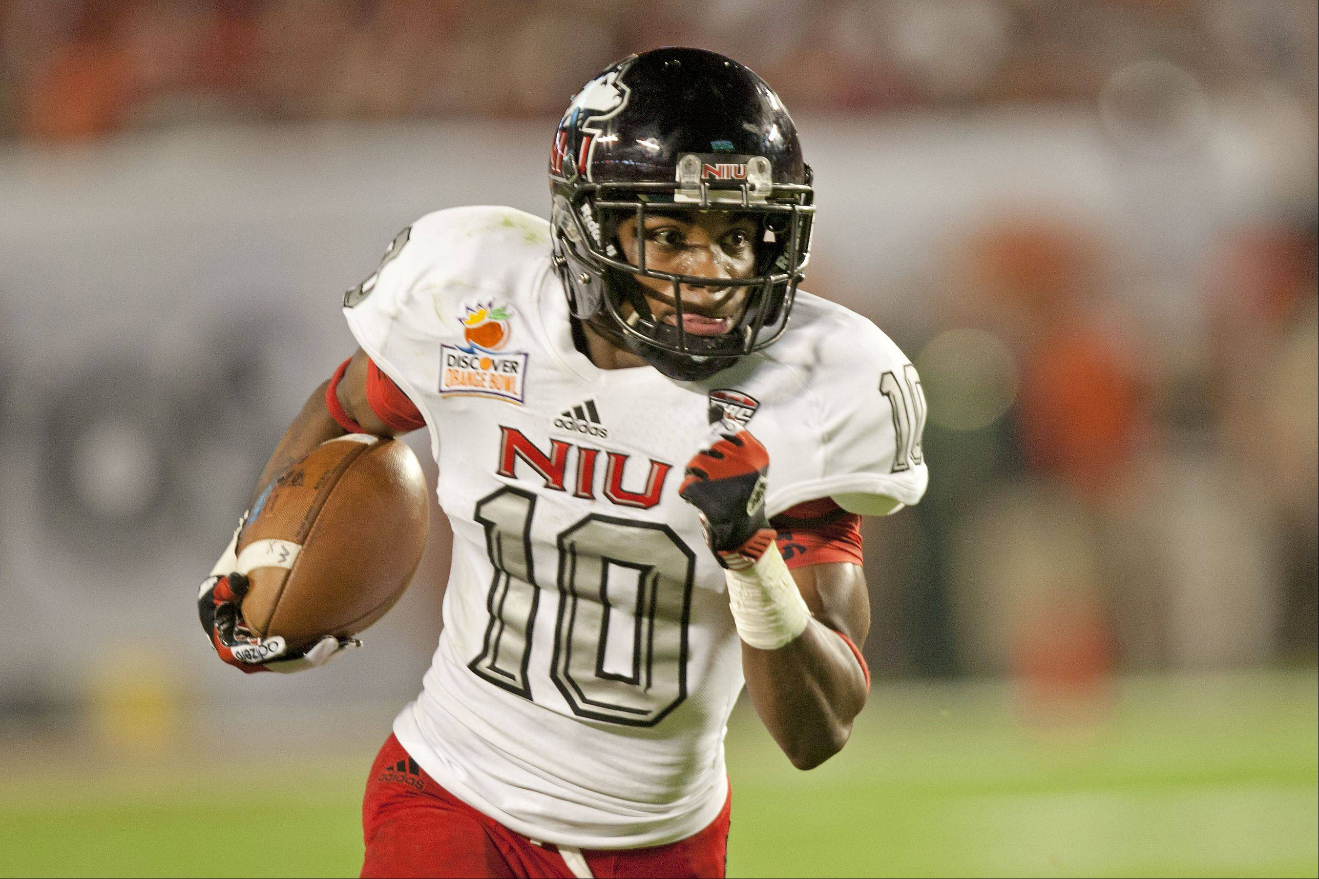NIU receiver and kick returner Tommy Lee Lewis should be a key target for record-setting quarterback Jordan Lynch next season.