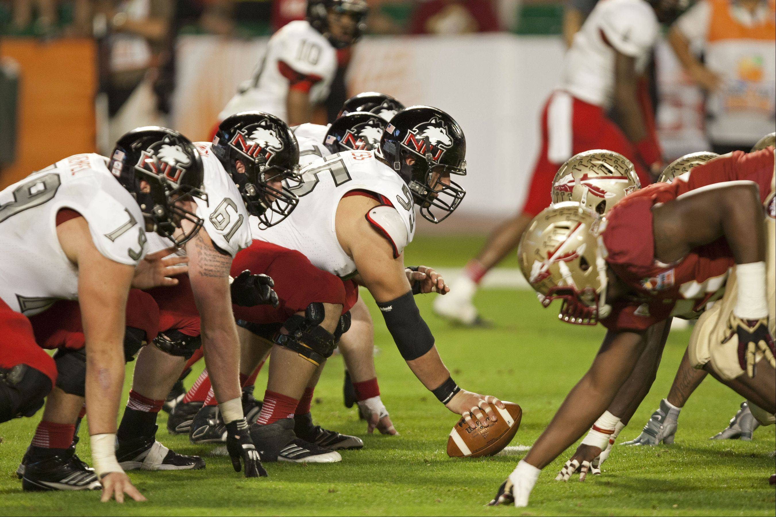The entire offensive line for Northern Illinois University will be back next season to block for quarterback Jordan Lynch. The Huskie also lose only 5 starters on defense.
