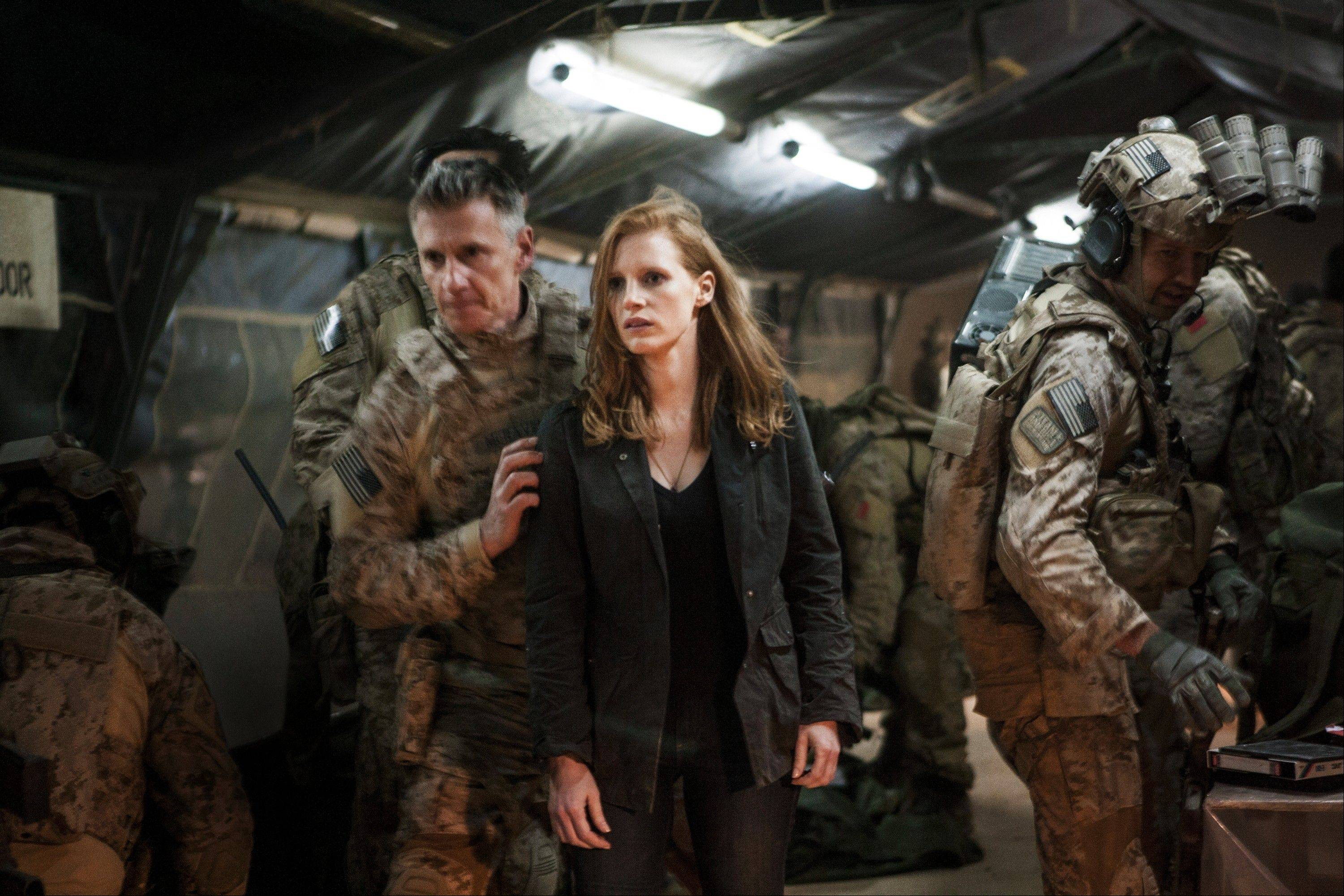 "Kathryn Bigelow's fact-based thriller ""Zero Dark Thirty"" stars Jessica Chastain as a strong-willed CIA agent who relentlessly hunts for the mysterious Osama bin Laden."