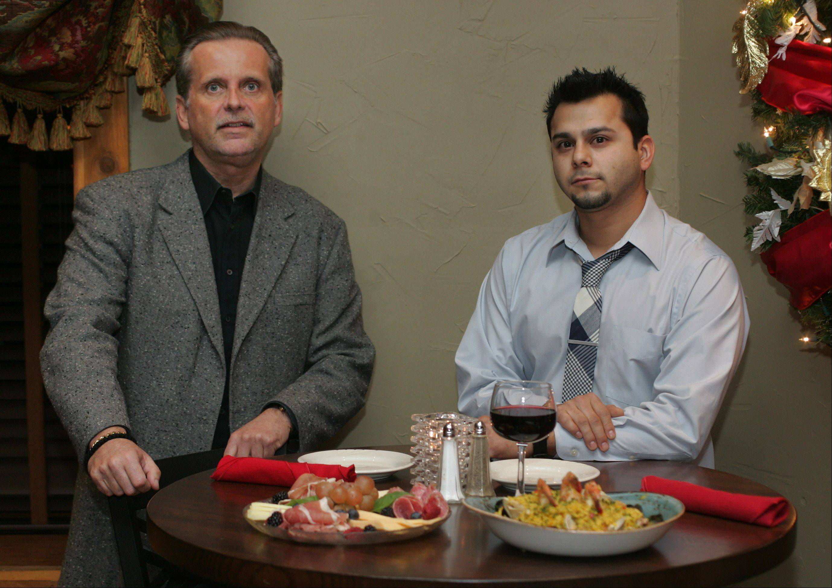 Owner Gus Govas and manager Ruben Estrada oversee the new Bodega Grill & Wine Lounge in Gurnee.