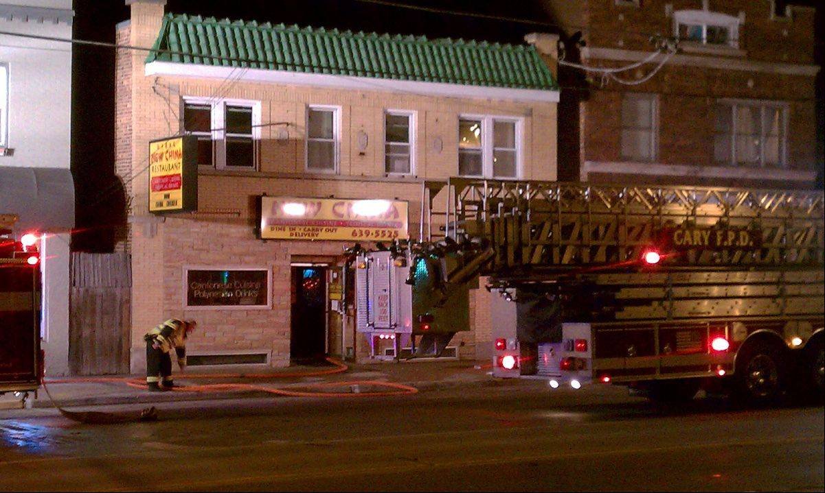 Fire personnel responded to the New China restaurant in Fox River Grove on Thursday night to reports of a kitchen fire.