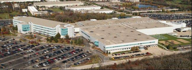 An aerial view of Motorola Mobility's Libertyville complex, which parent company Google Inc. wants to sell.