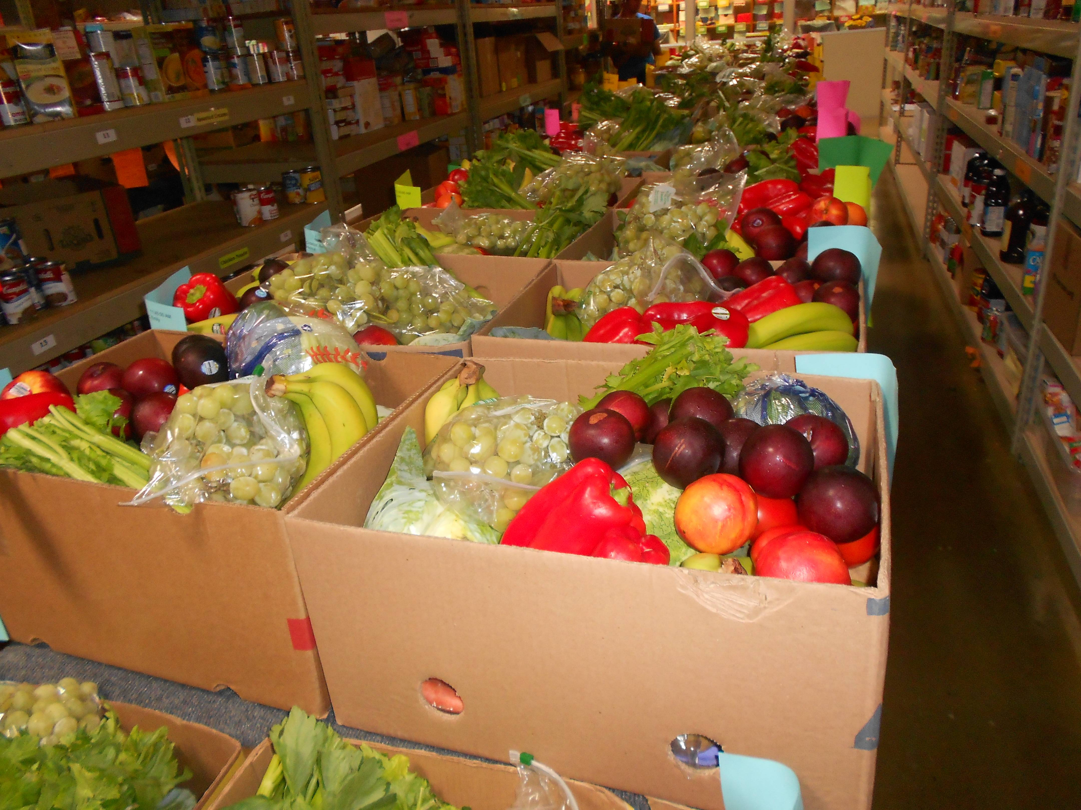 Fresh produce to be delivered by volunteers to the needy seniors served by HSP.
