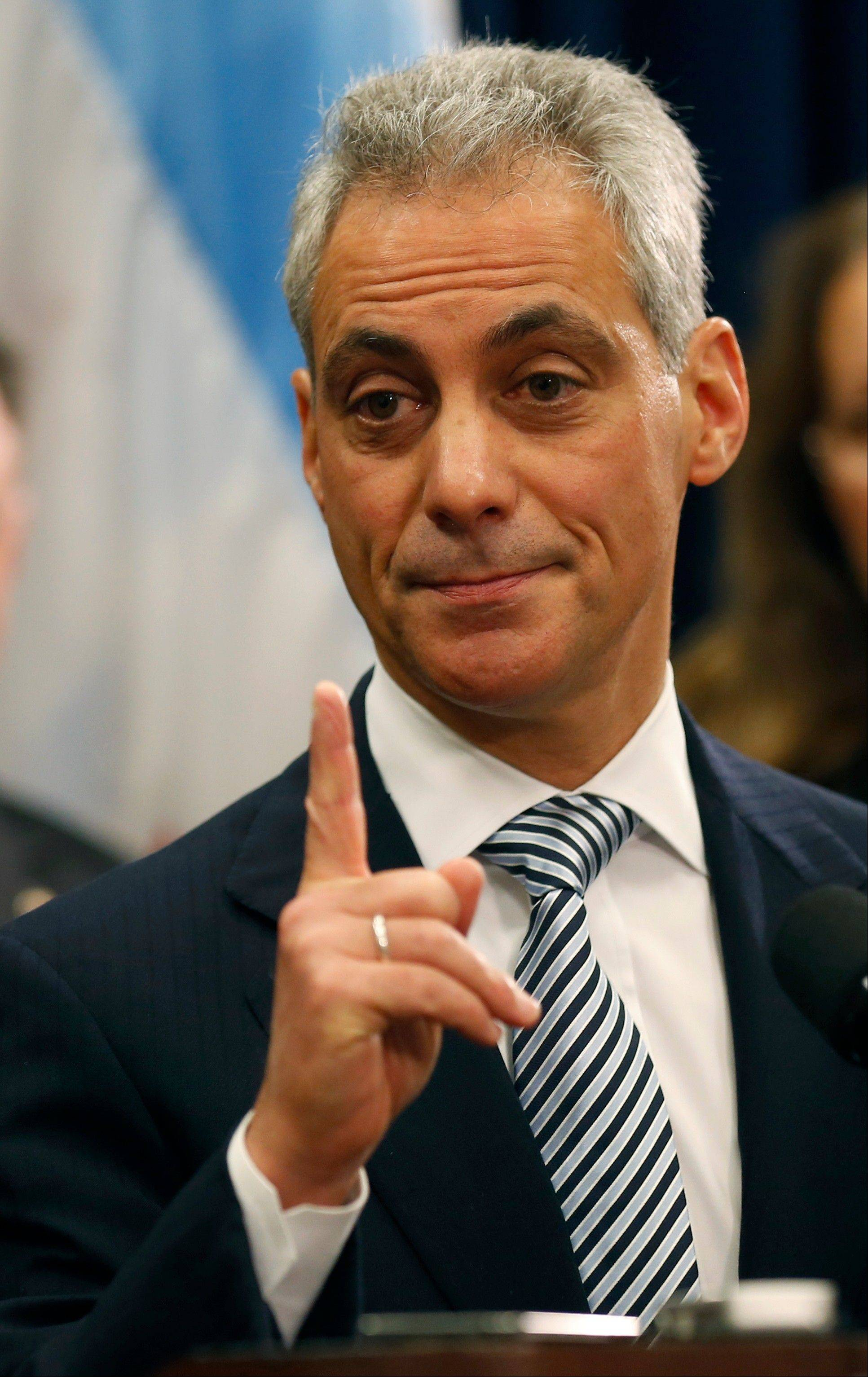 Emanuel says state will legalize gay marriage, ban assault weapons
