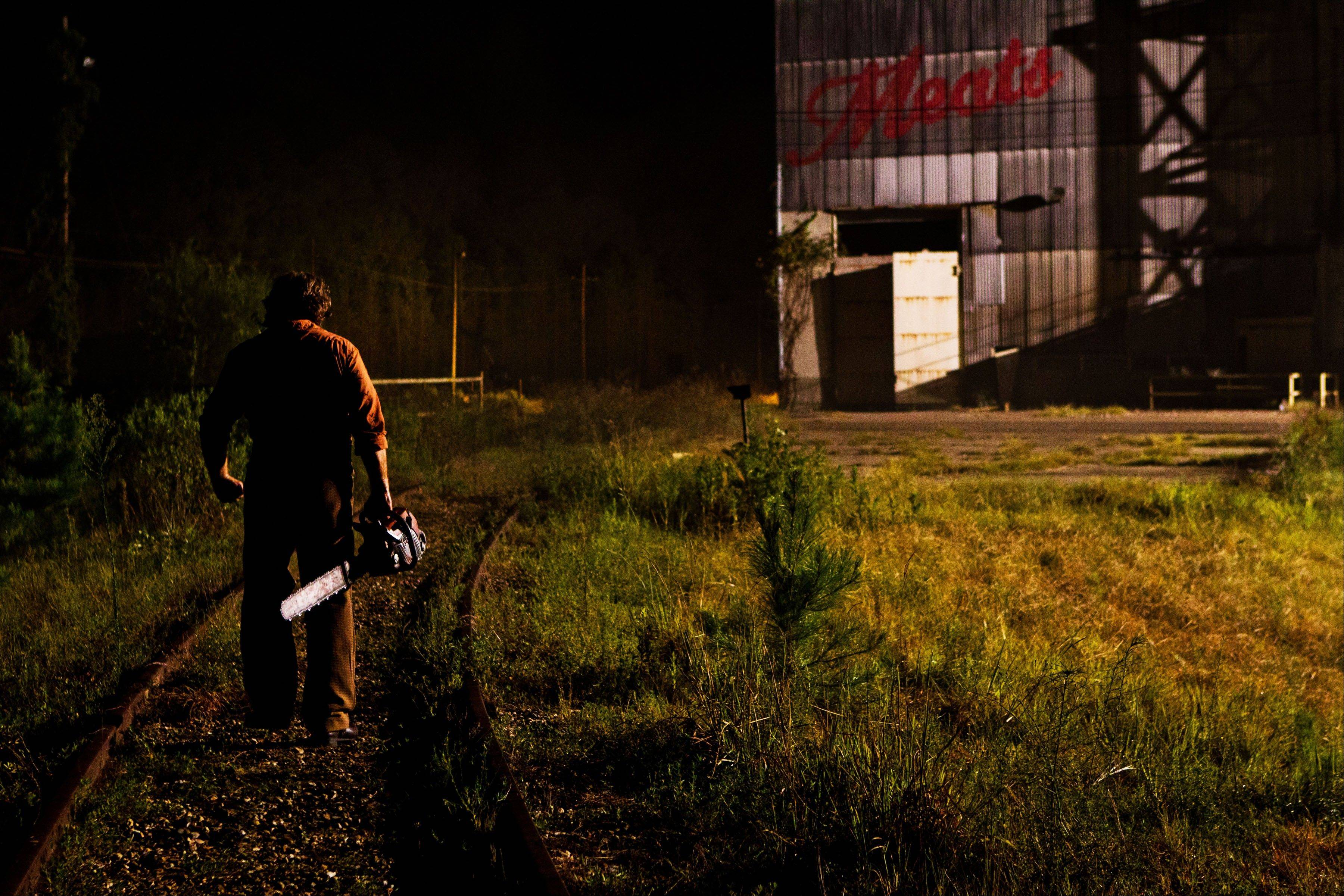 "Leatherface (Dan Yeager) still lurks around the family home, unbeknownst to the new owners, in ""Texas Chainsaw 3-D."""