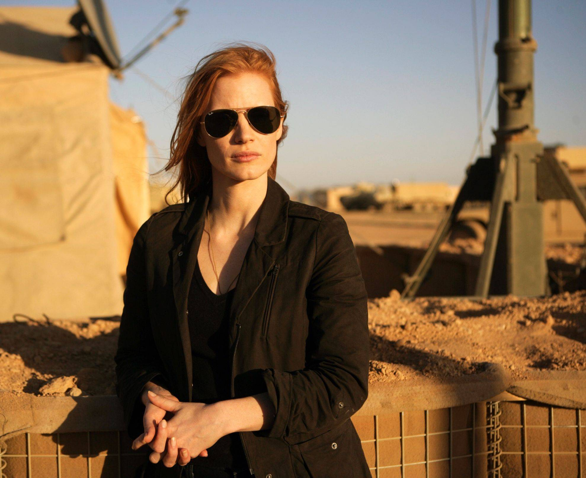 "Jessica Chastain plays a member of the elite team of spies and military operatives stationed in a covert base overseas who secretly devoted themselves to finding Osama bin Laden in ""Zero Dark Thirty."""