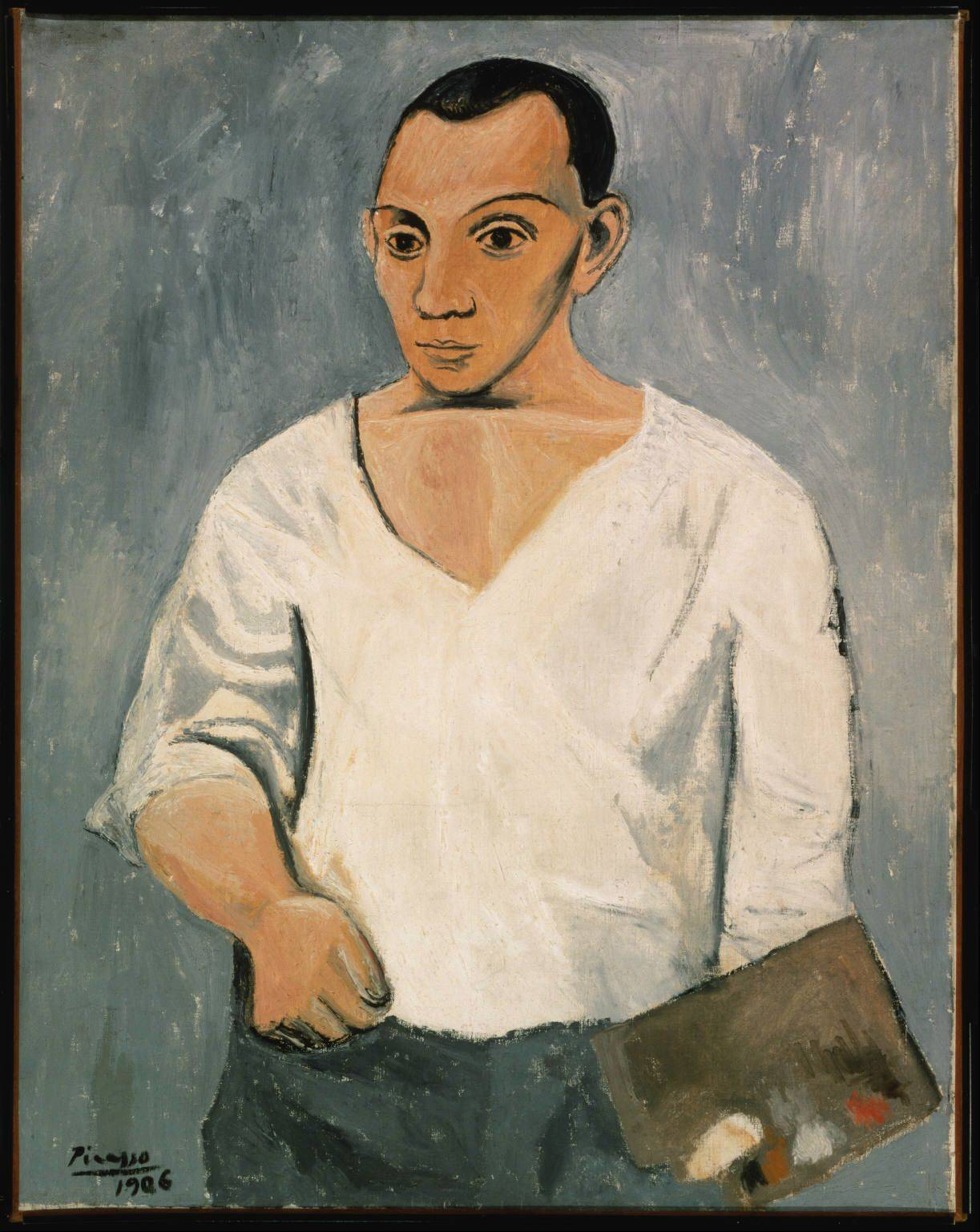 "Pablo Picasso's ""Self Portrait with Palette"" is part of a special Art Institute of Chicago exhibit celebrating the city's relationship to the famed Spanish artist."