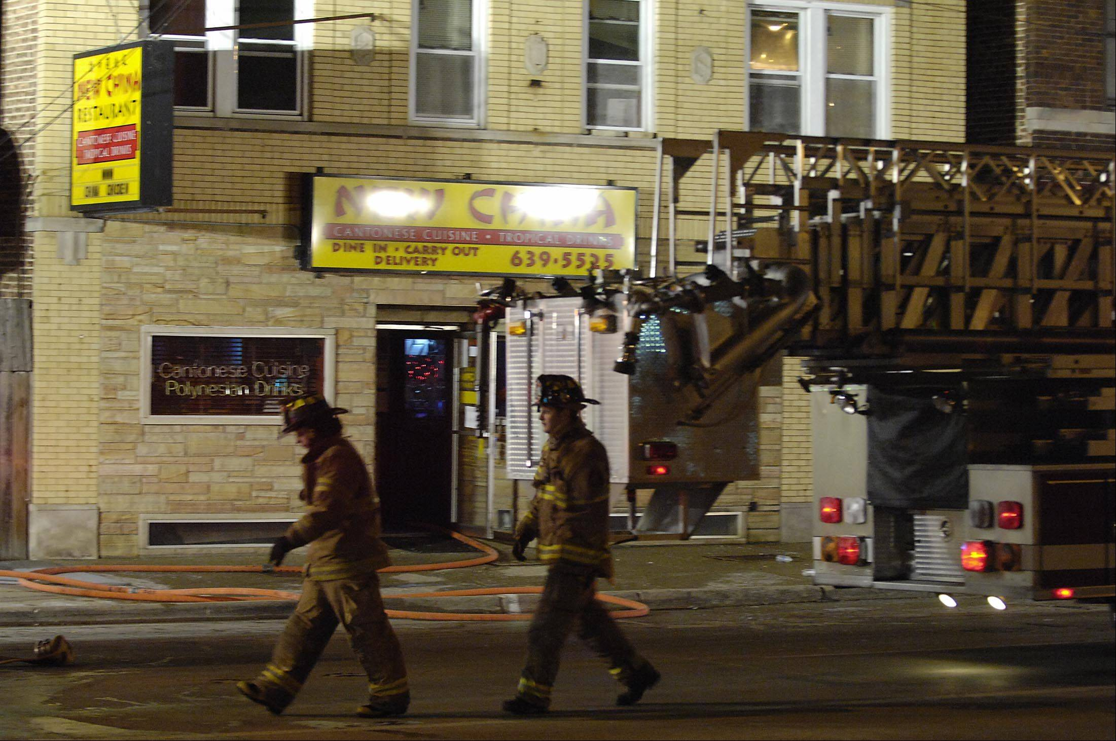 Several fire departments responded to a fire at the New China Cantonese restaurant on Route 14 in Fox River Grove Thursday evening.