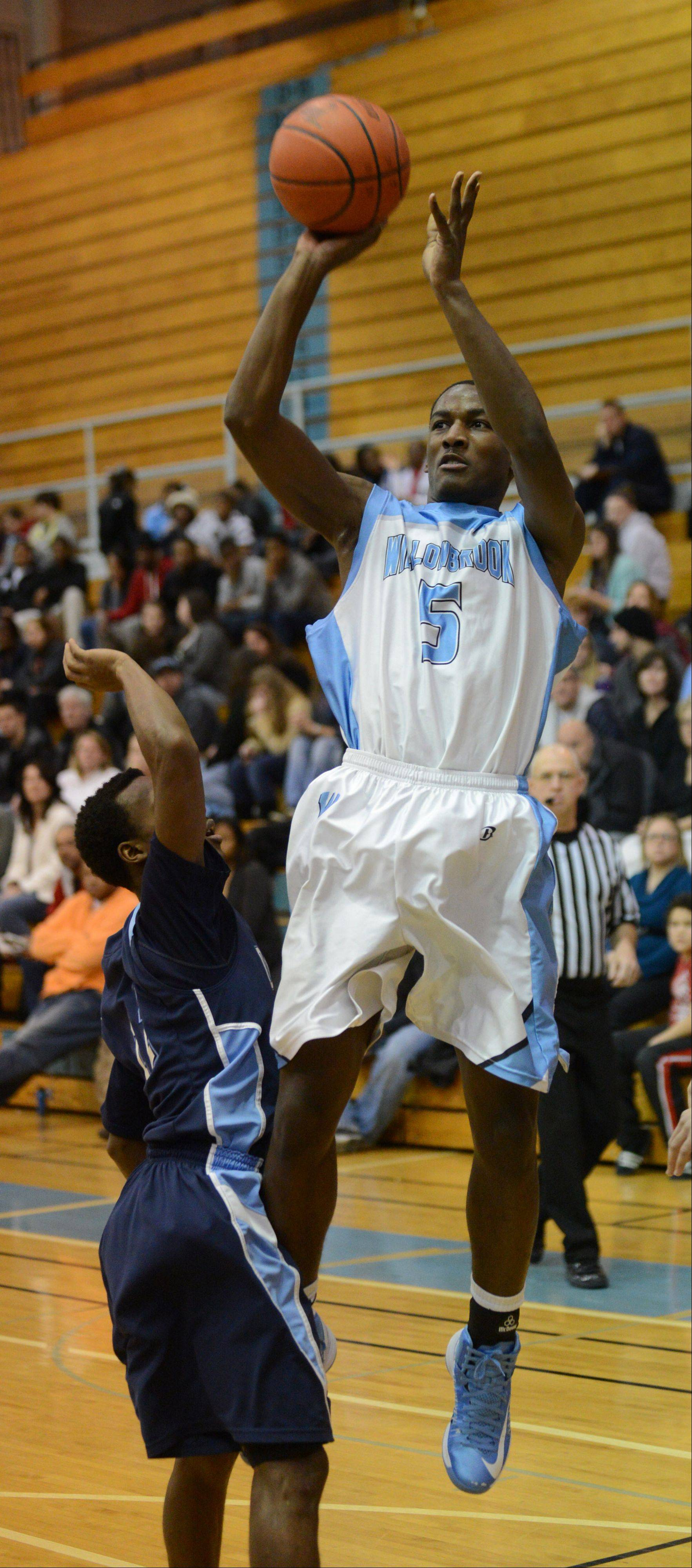 Tiger Greene of Willowbrook puts up a shot.