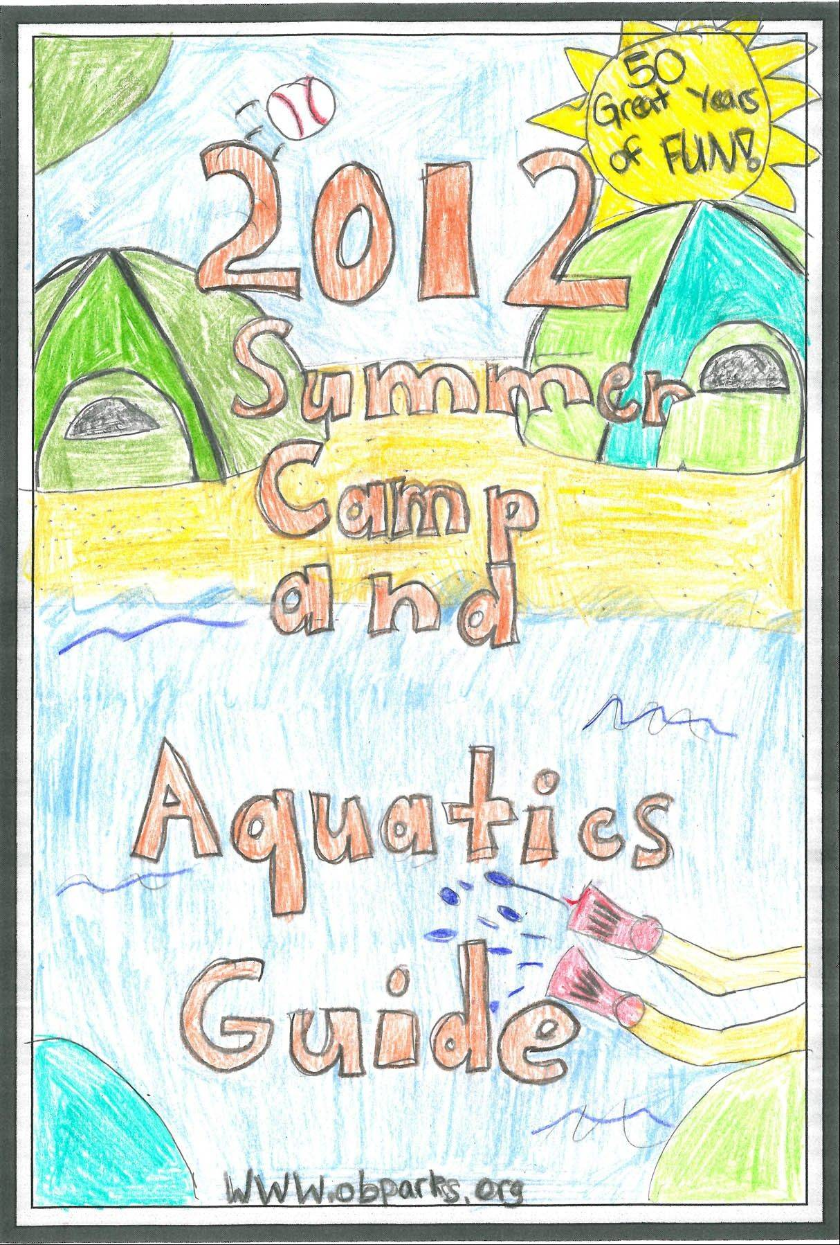 Fourth-grader Maggie Huber of Oak Brook submitted the winning design for last year's Summer Camp and Aquatics Guide.