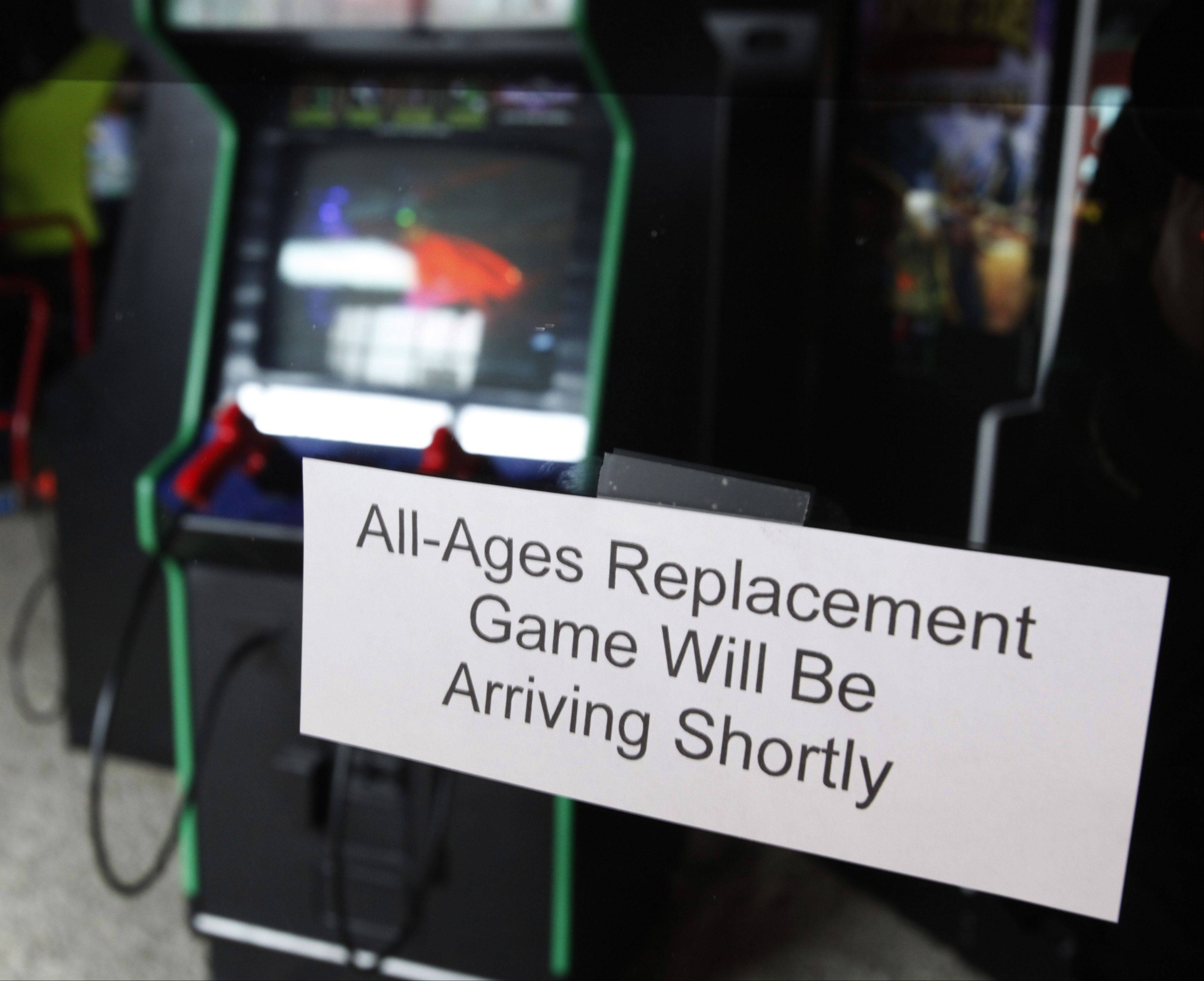 Kevin Slota, co-owner of No Limit Arcade in Algonquin, plans to remove 12 violent video games from his business.