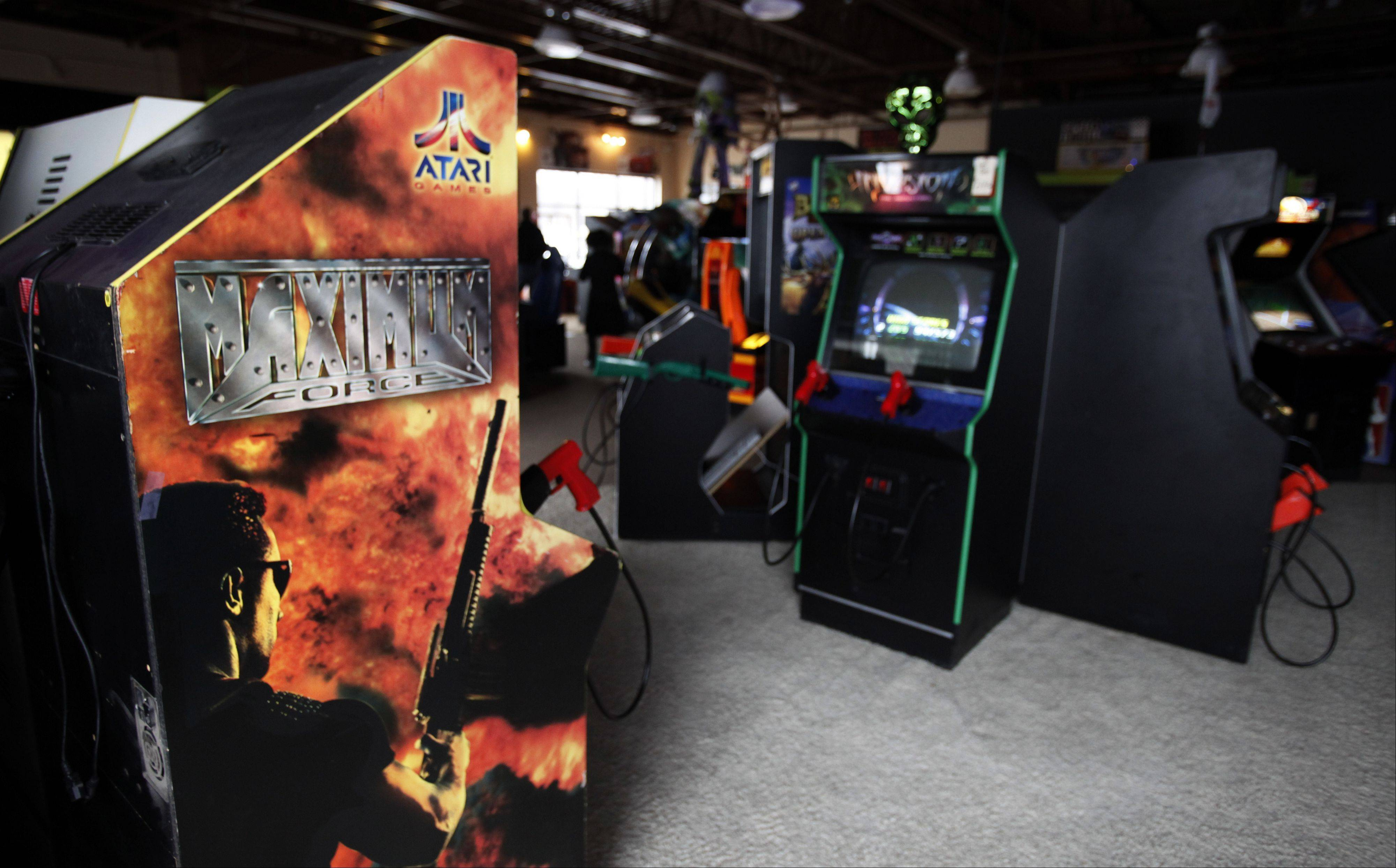 "Realistic or high violence shooter games like ""Maximum Force"" are being removed from No Limit Arcade in Algonquin."