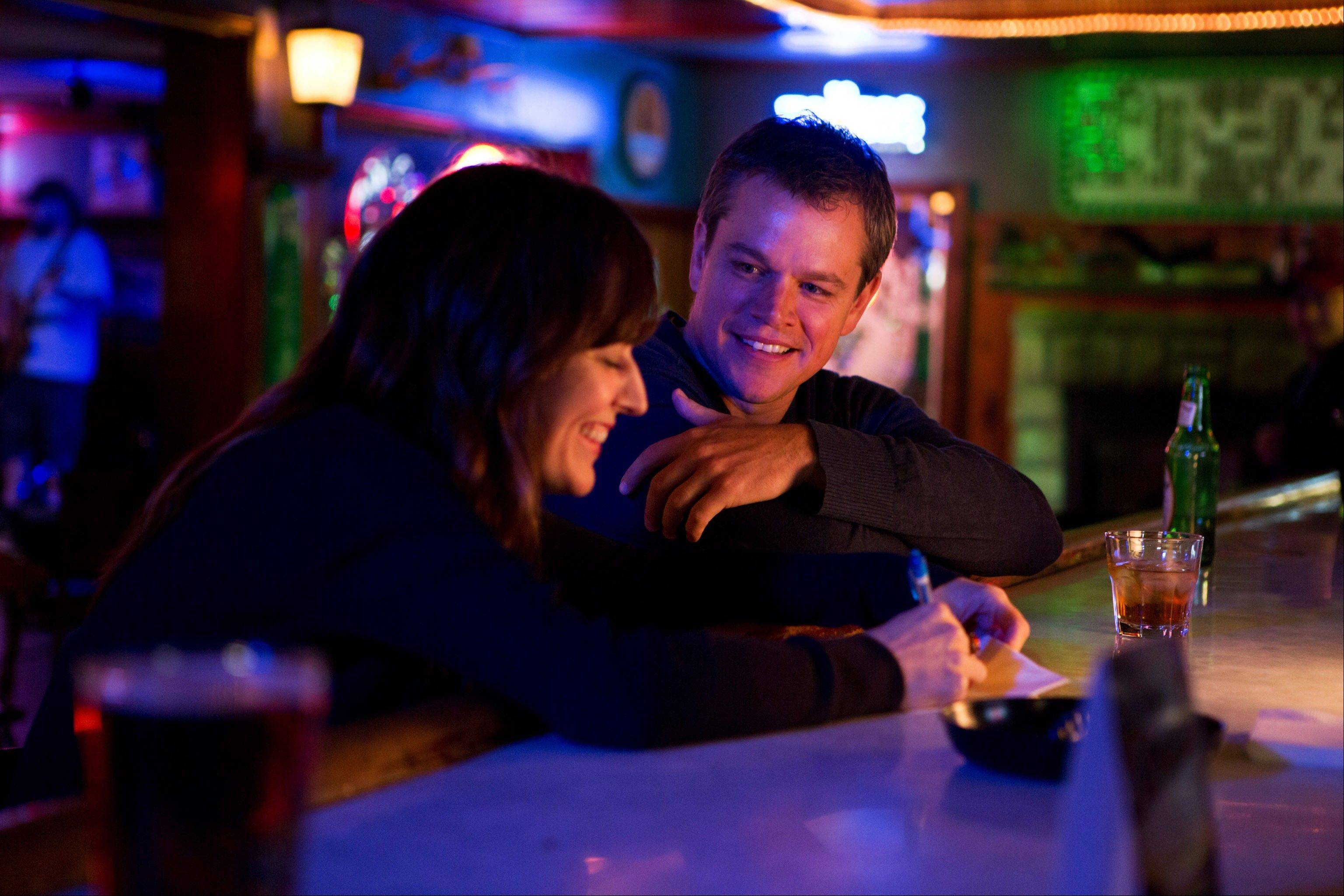 "Rosemarie DeWitt, left, as Alice and Matt Damon, as Steve, appear in a scene of Gus Van Sant's contemporary drama, ""Promised Land,"" which will be released nationwide this week."