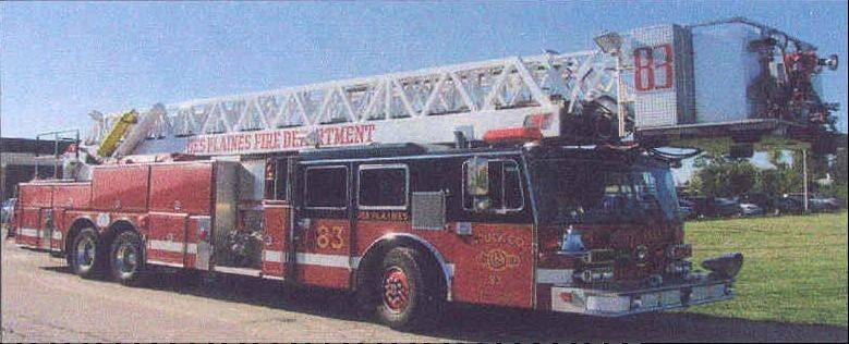 Des Plaines city officials are considering retiring this aging ladder truck and purchasing a used one from Lake Zurich for $400,000. The city currently has about $1.4 million in its budget to buy a new ladder truck.