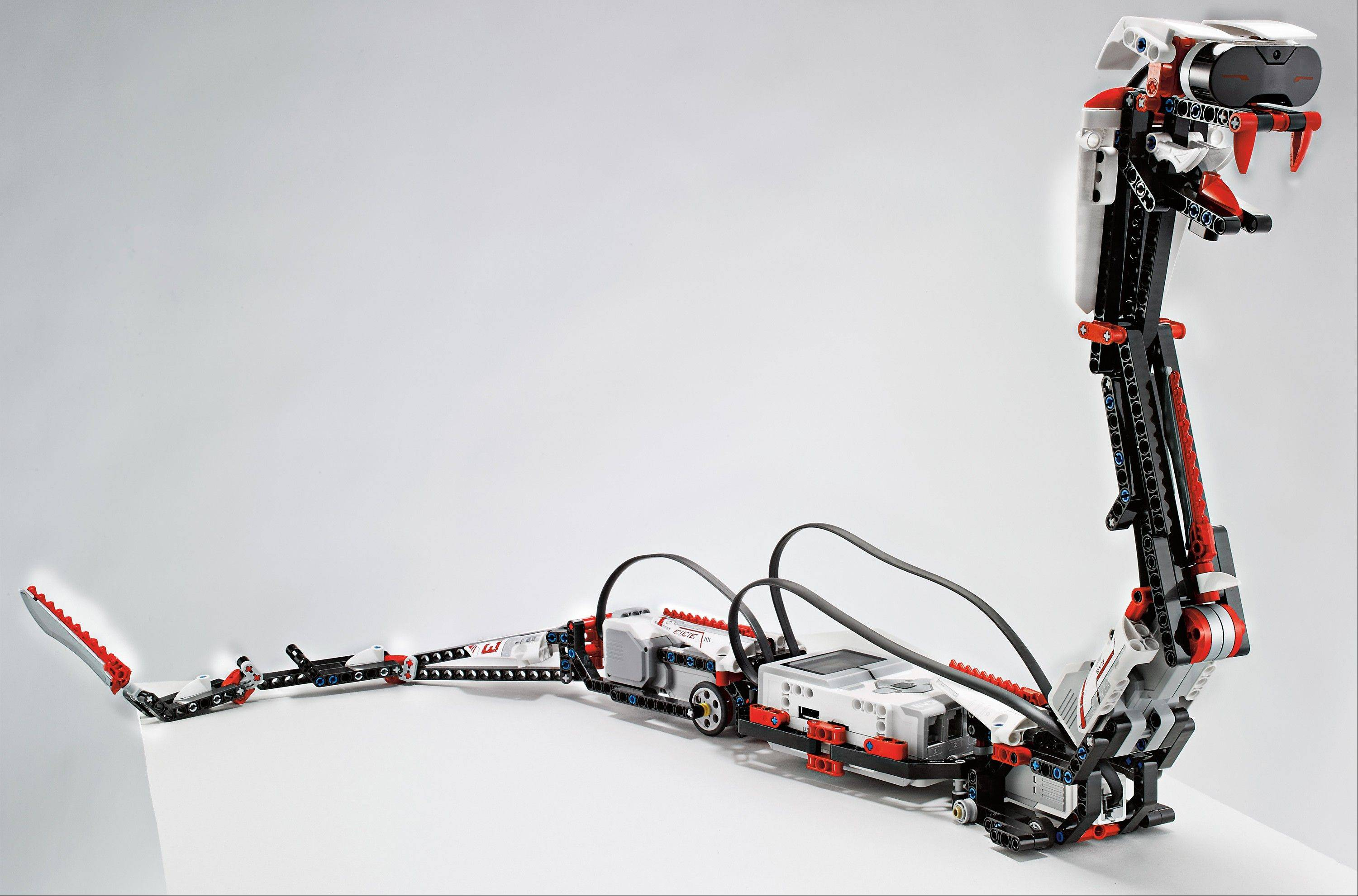 This undated photo provided by Lego shows 'Reptar,' a robotic snake that is one of 17 possible creations available in the new, $350 Lego Mindstorms EV3 platform that will have the ability to talk to iPhones, iPads and iPod Touches through Bluetooth wireless connections. Lego is scheduled to announce the kit Monday at the International Consumer Electronics Show in Las Vegas.