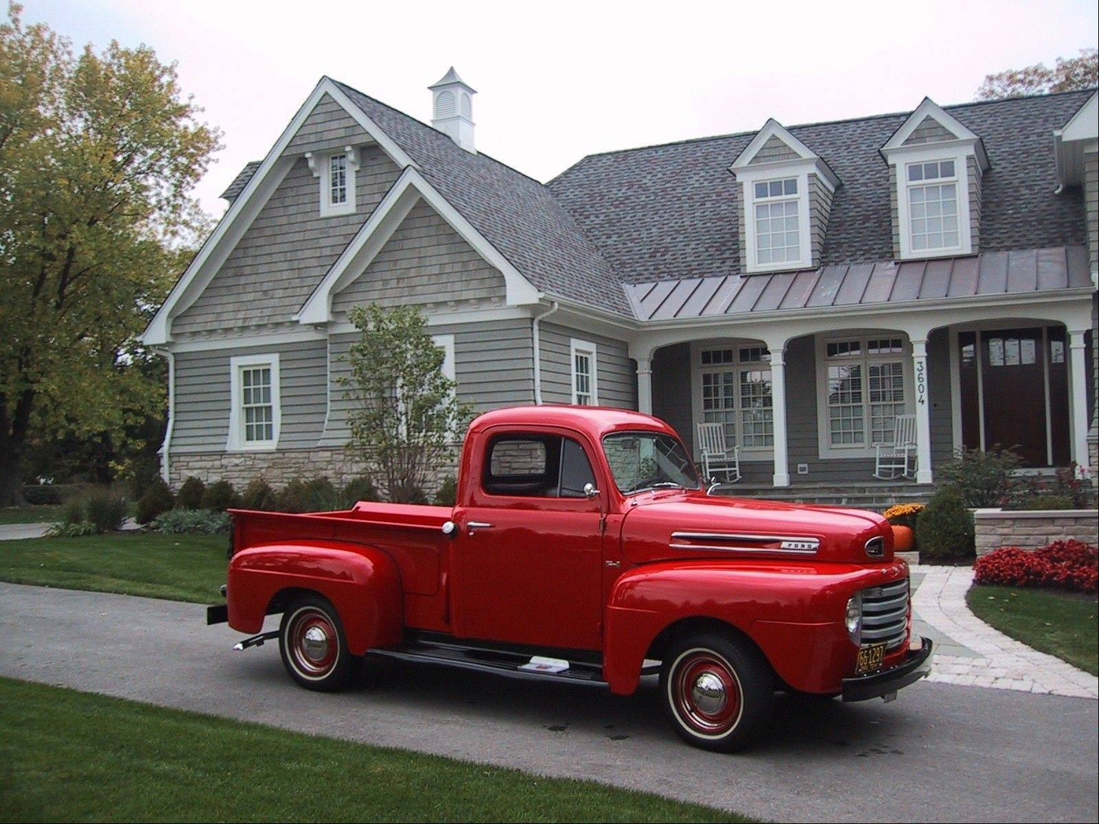Brad Buell, who owns Buell Insurance in Libertyville, owns this Ford pickup that has been used in commercials.