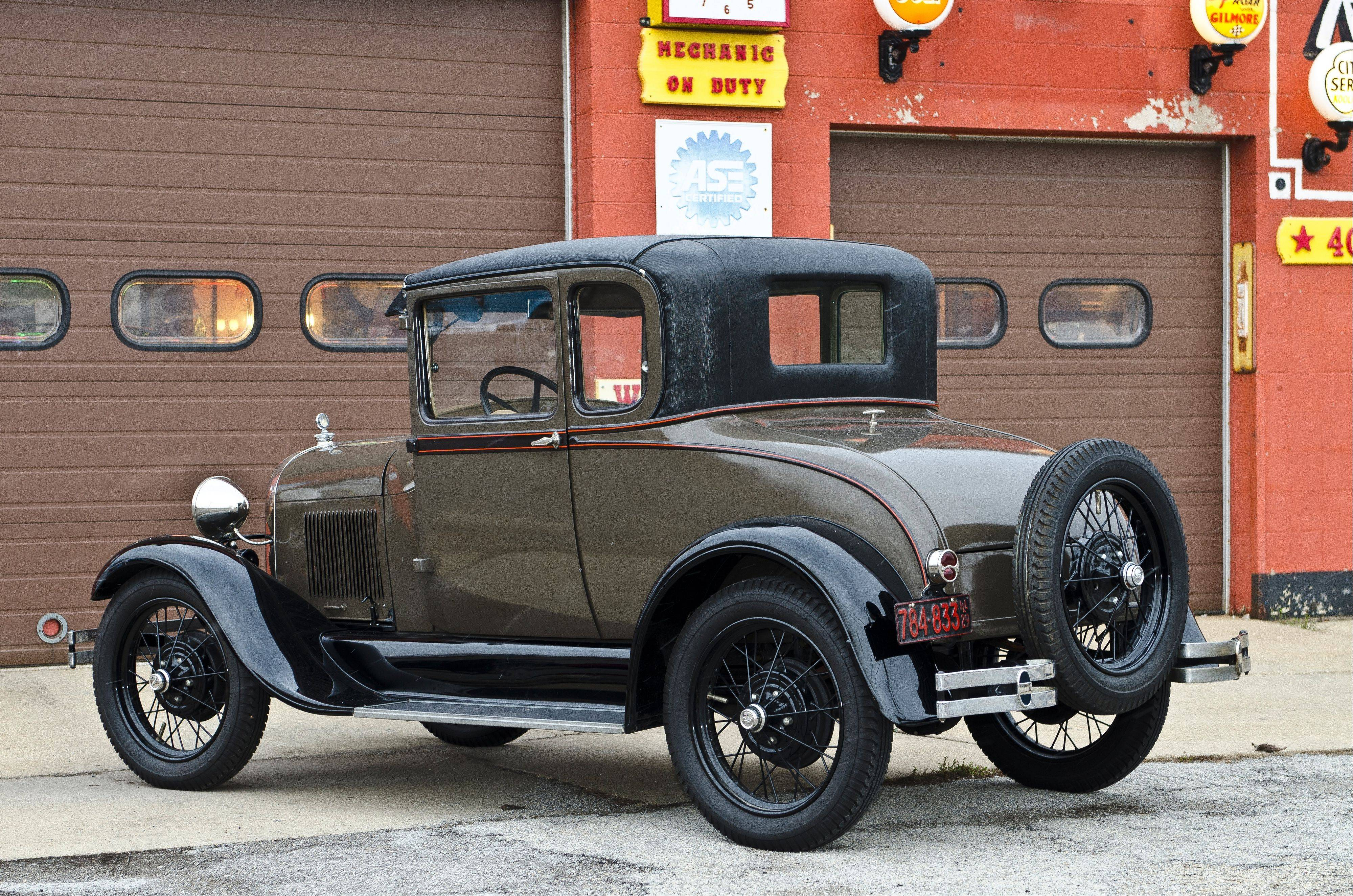 This 1930 Ford Model A Tudor belonging to Halvorsen has been in several movies.