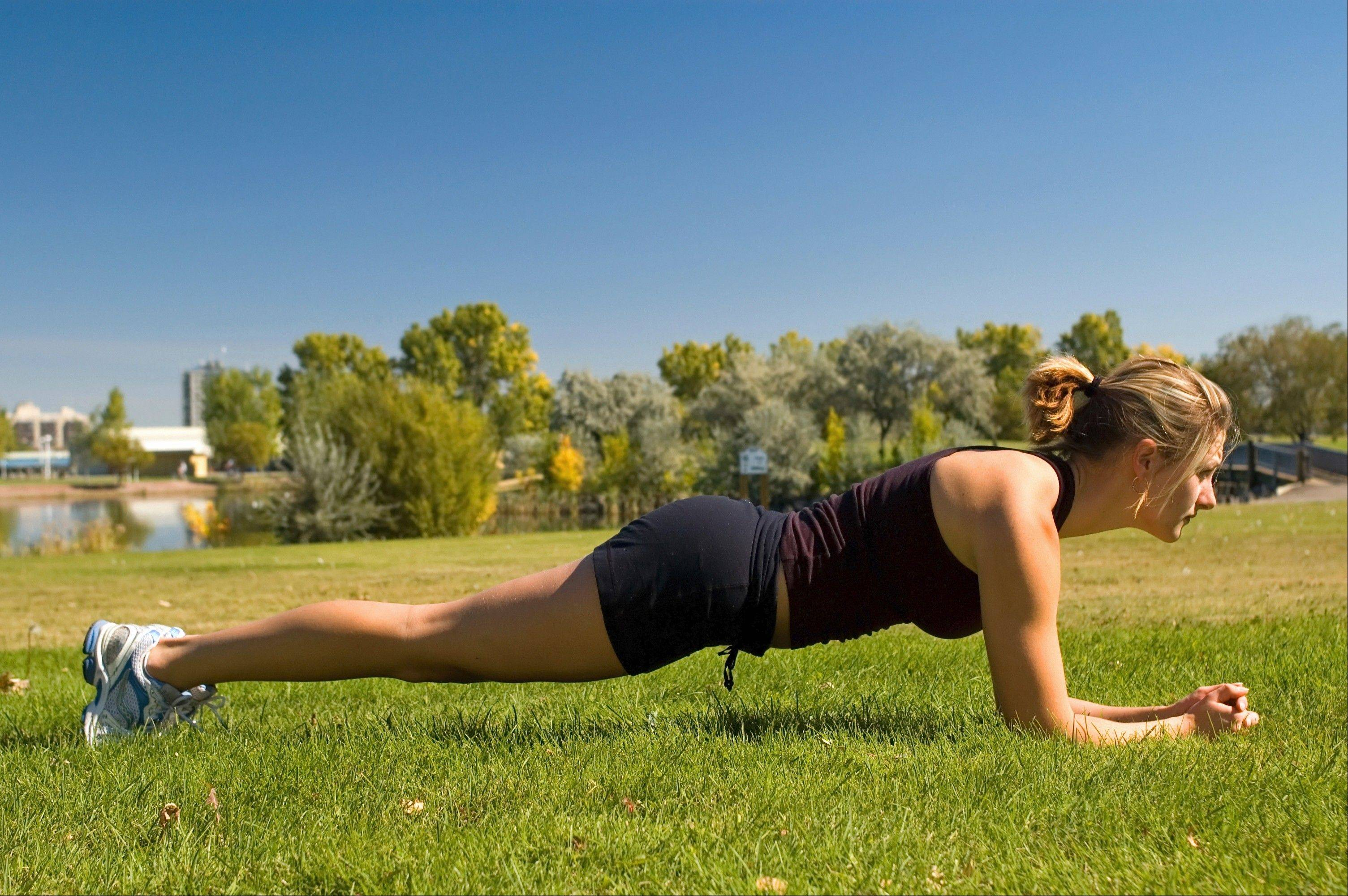 Doing a plank works your core better than sit-ups.