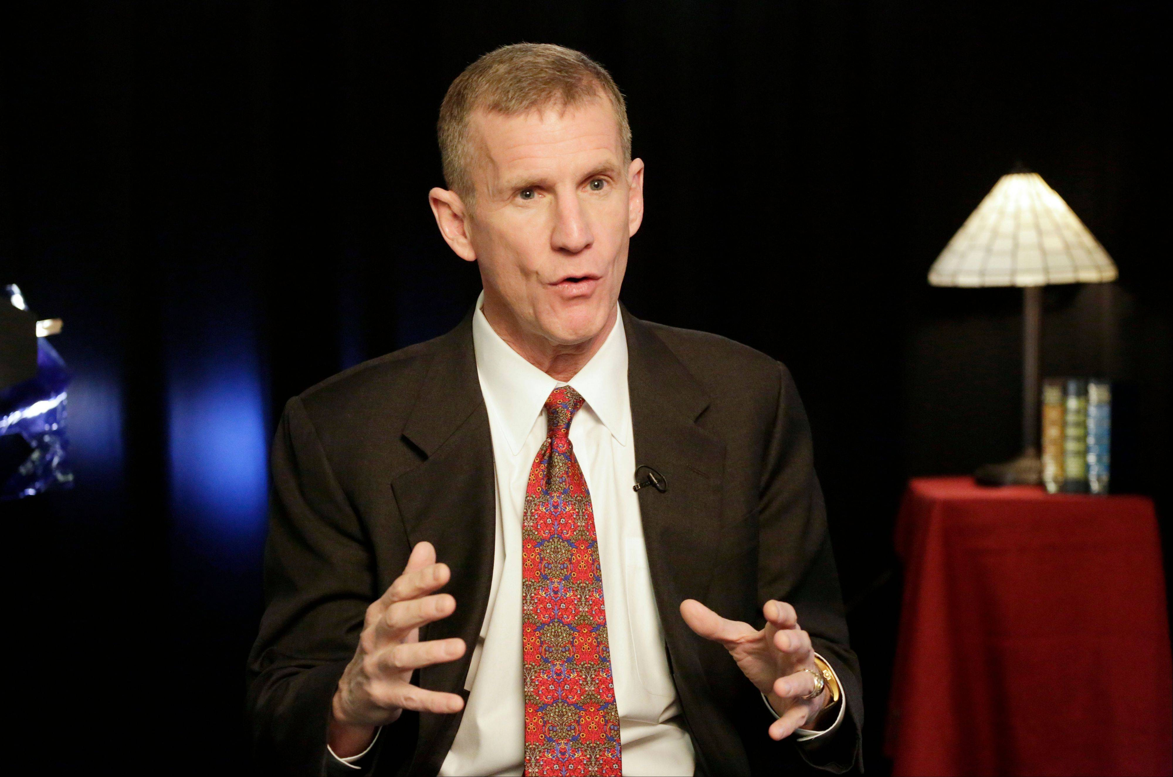 "Retired Gen. Stanley McChrystal says he was ""completely surprised"" by the uproar that followed publication of a Rolling Stone article featuring derogatory comments attributed to his staff about the Obama administration."